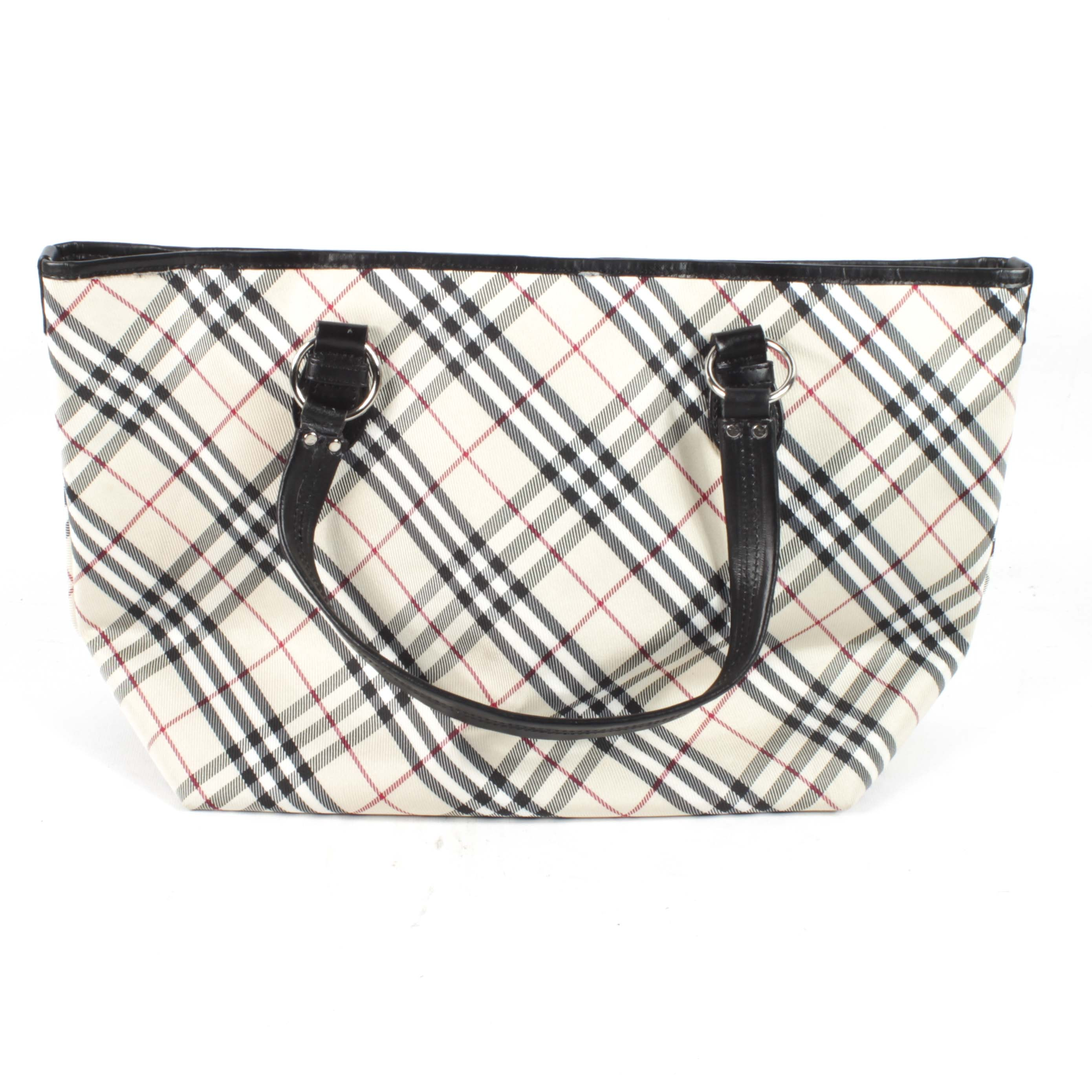 "Burberry Blue Label ""Nova Check"" Canvas Handbag"
