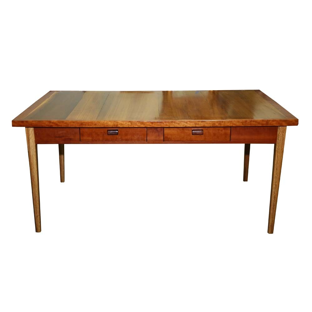 Contemporary Mixed Wood Desk