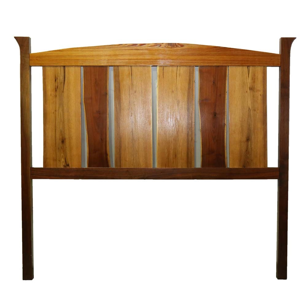 Contemporary Mixed Wood Headboard - King Size