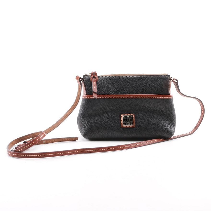 2721d88dbc34 Dooney   Bourke Black Pebbled Leather Crossbody Bag   EBTH