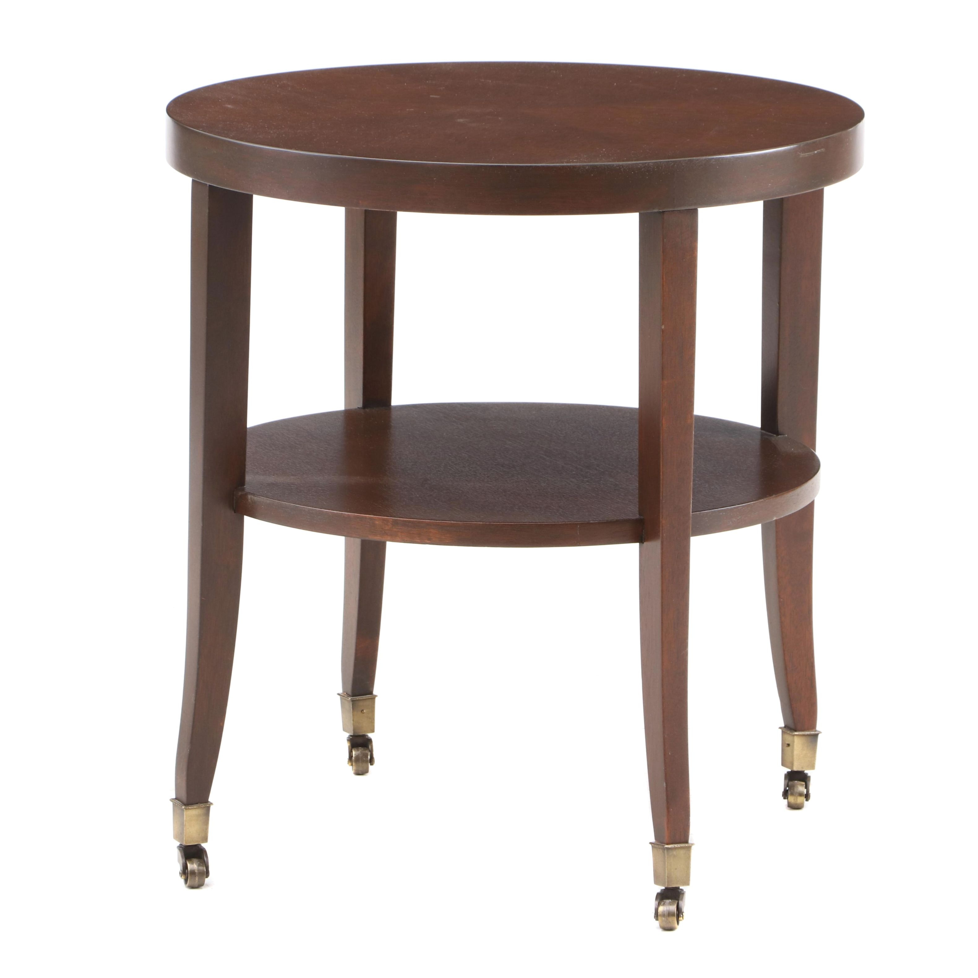 Mid Century Side Table with Mahogany Veneers, Mid-20th Century