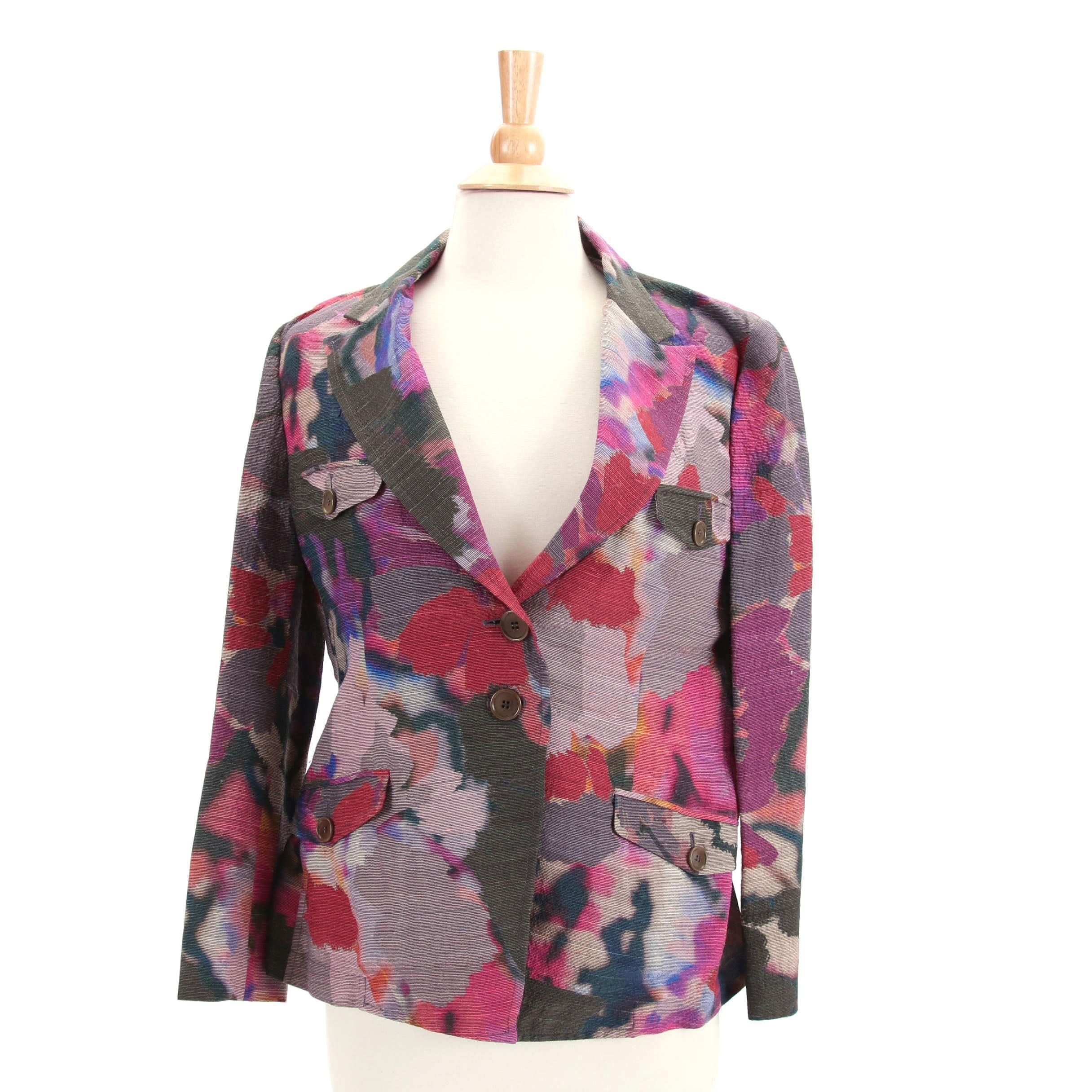 Women's Etro Silk Blend Floral Jacket