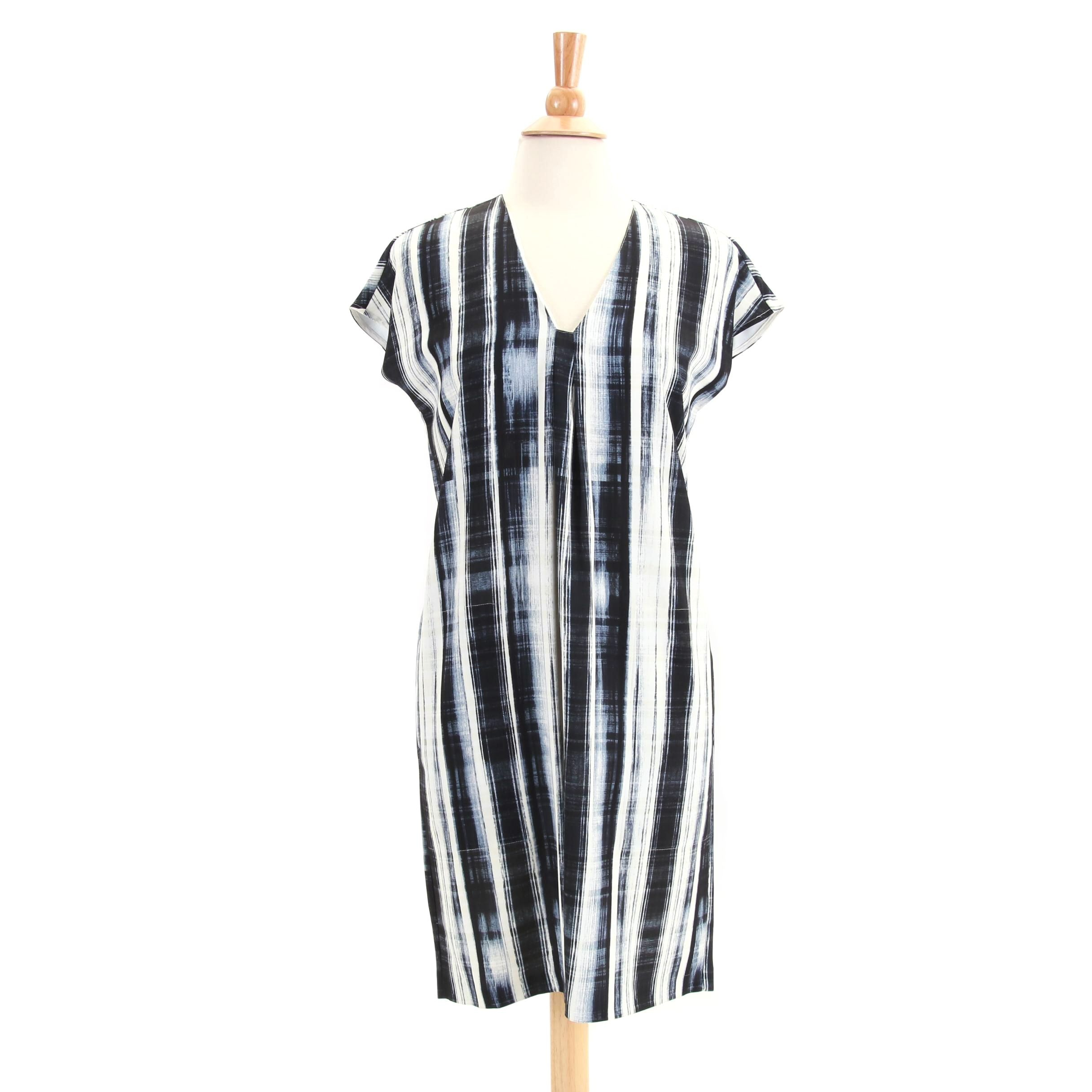 Vince Abstract Plaid Shift Dress