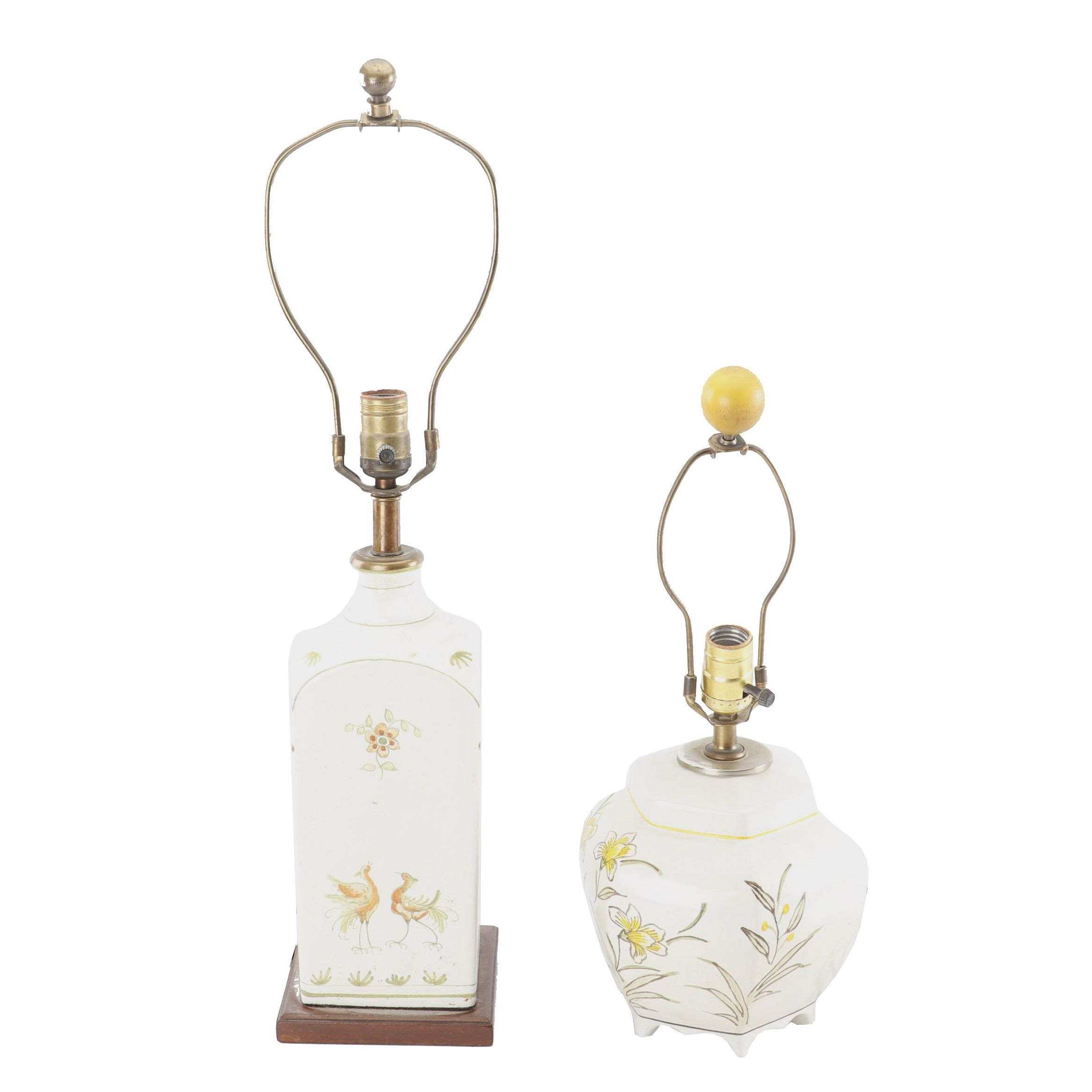 Hand-Painted Ceramic Table Lamps