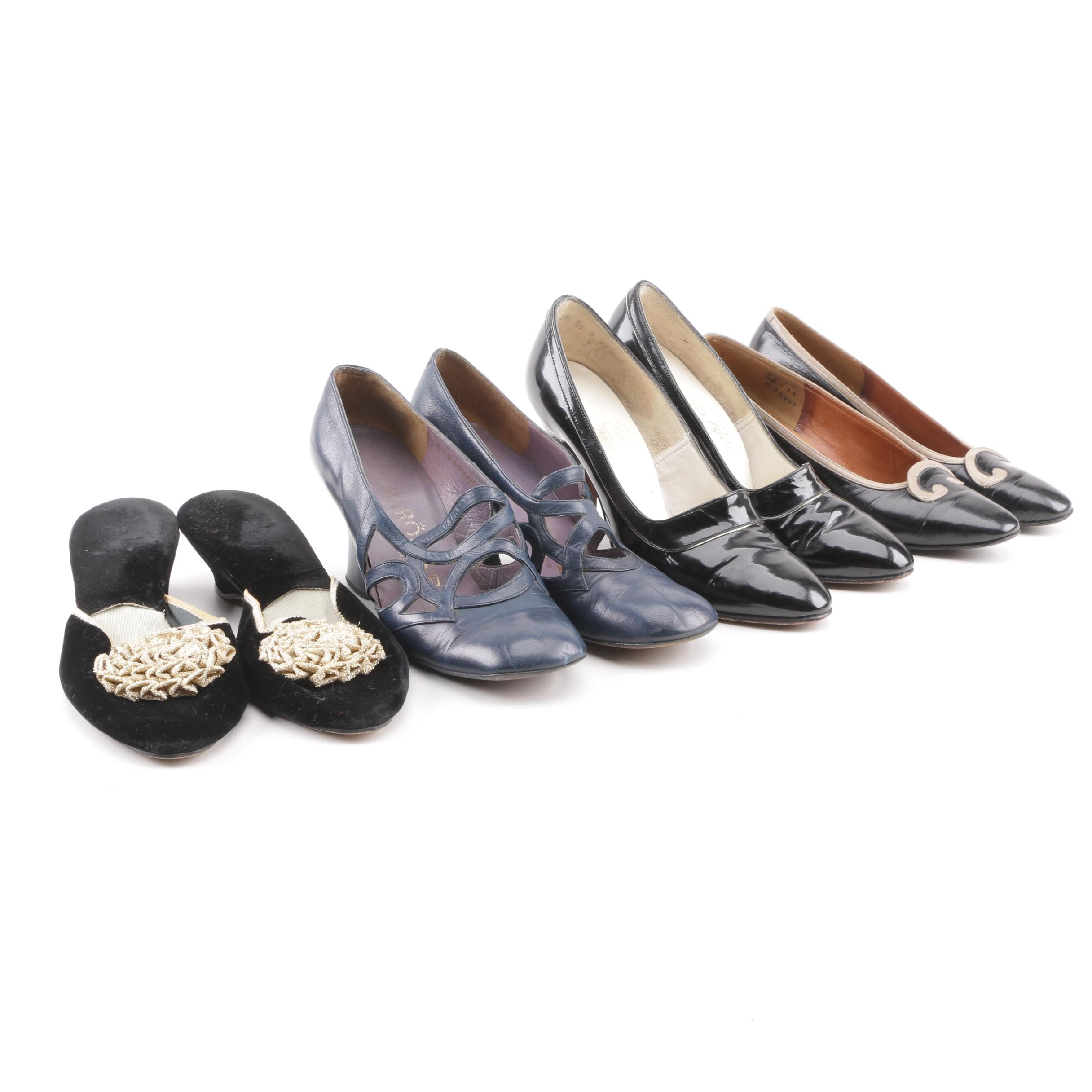Women's Vintage Pumps and Slides including Johansen, Sakowitz and Marquise