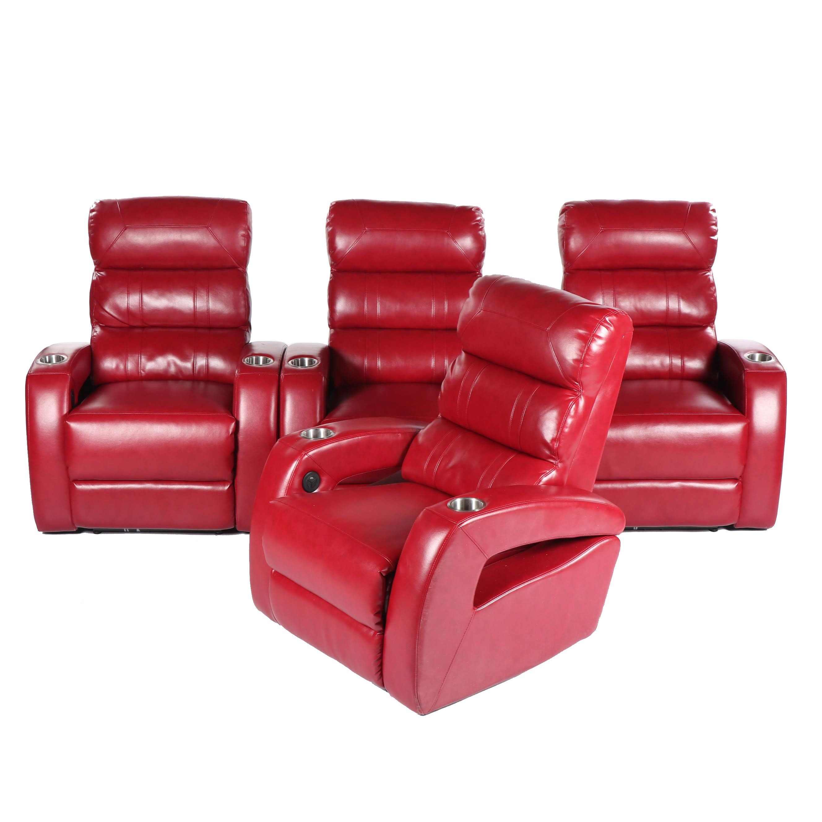 Leather Upholstered Home Theater Seats, 21st Century
