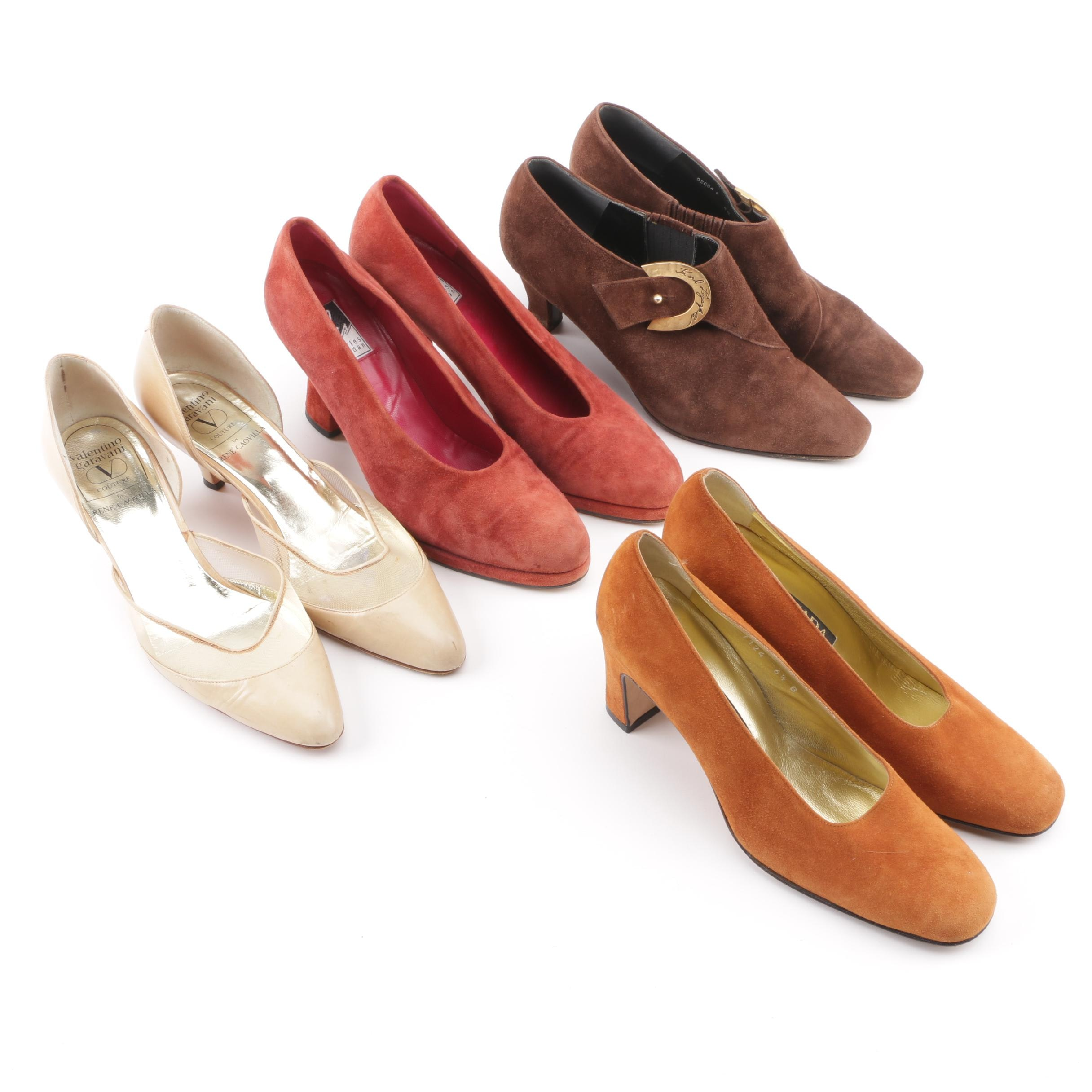 Women's Vintage Suede and Leather Heels including Valentino Garavani