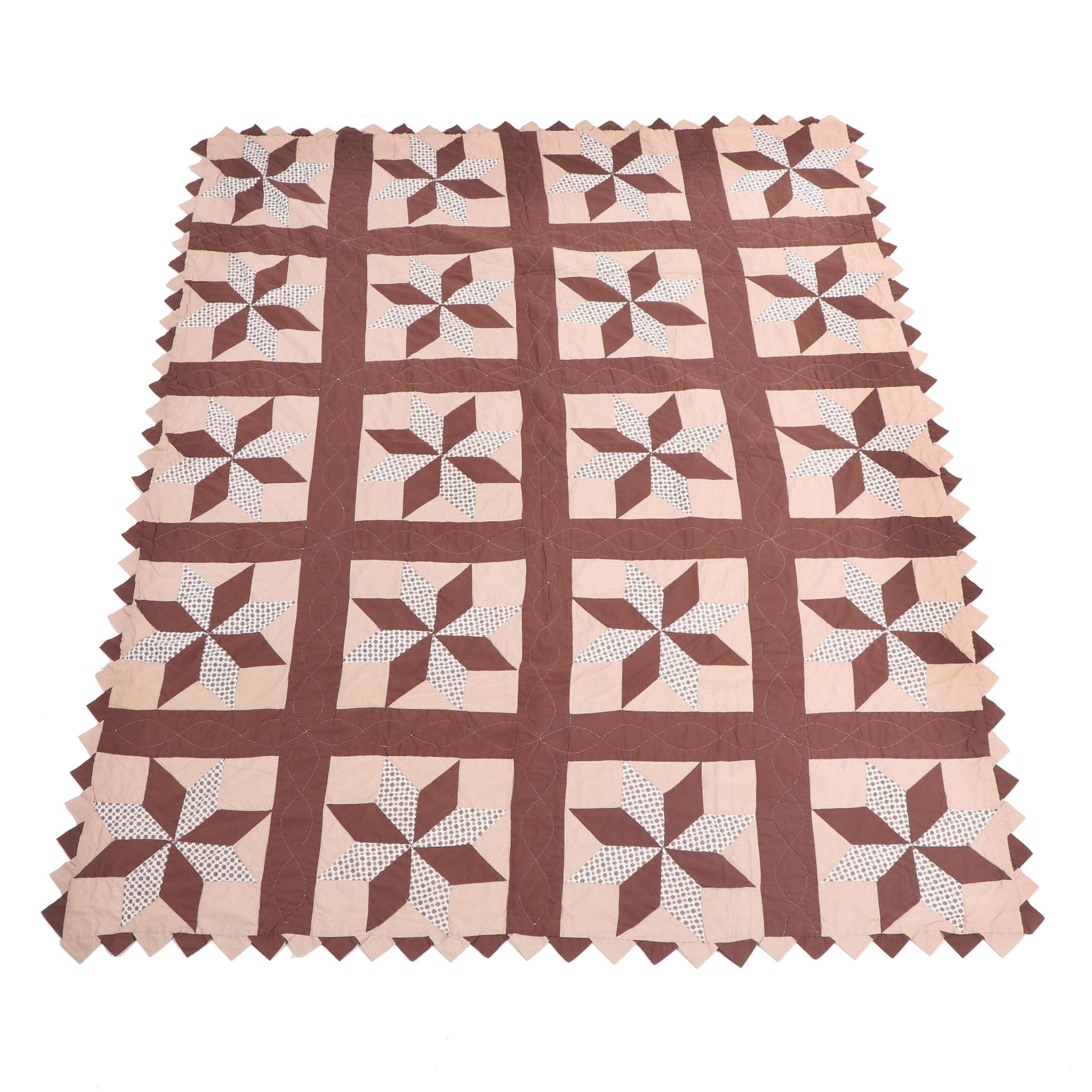 "Handmade ""Pinwheel Star"" Quilt"