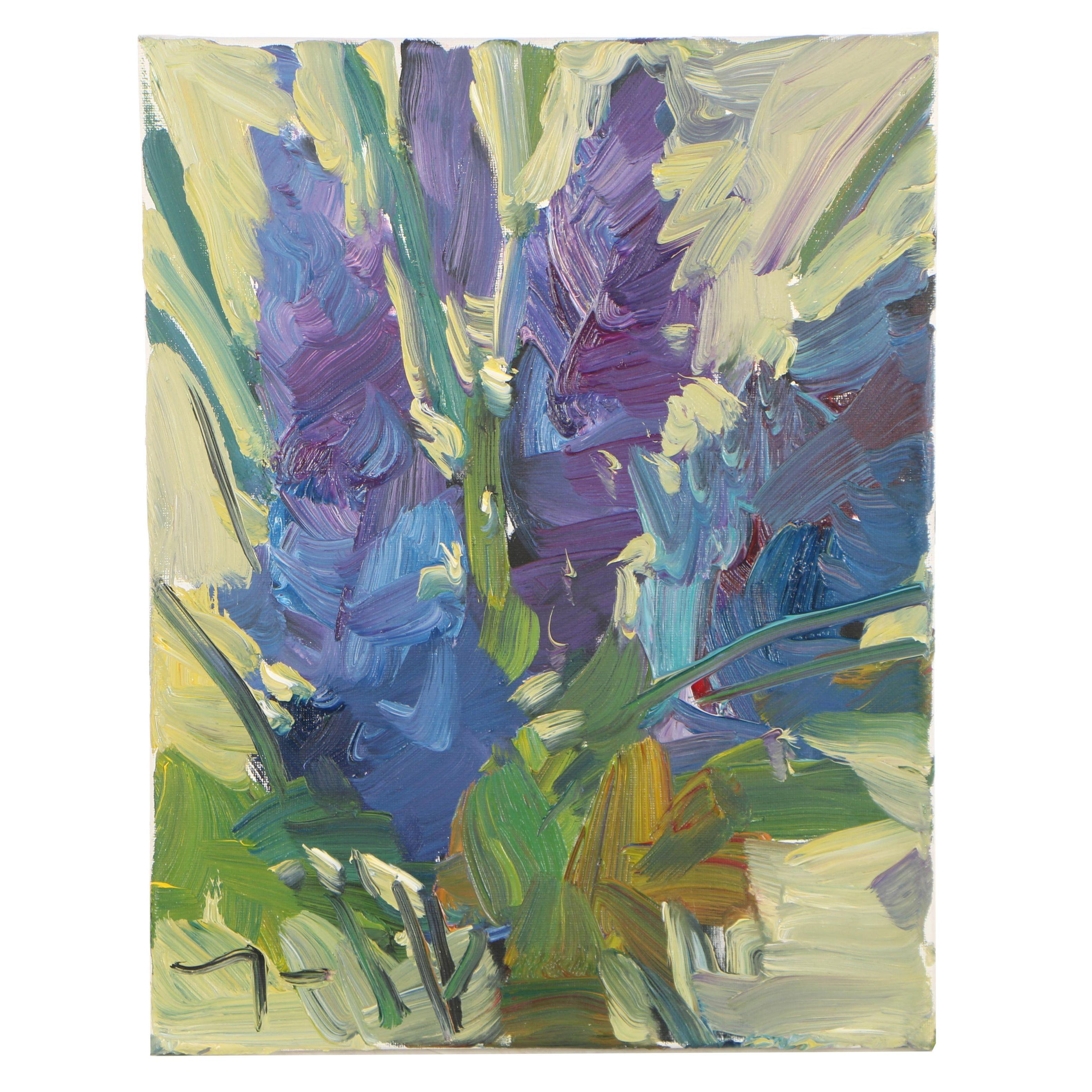 """Jose Trujillo Oil Painting """"Lavender Delicacy"""""""