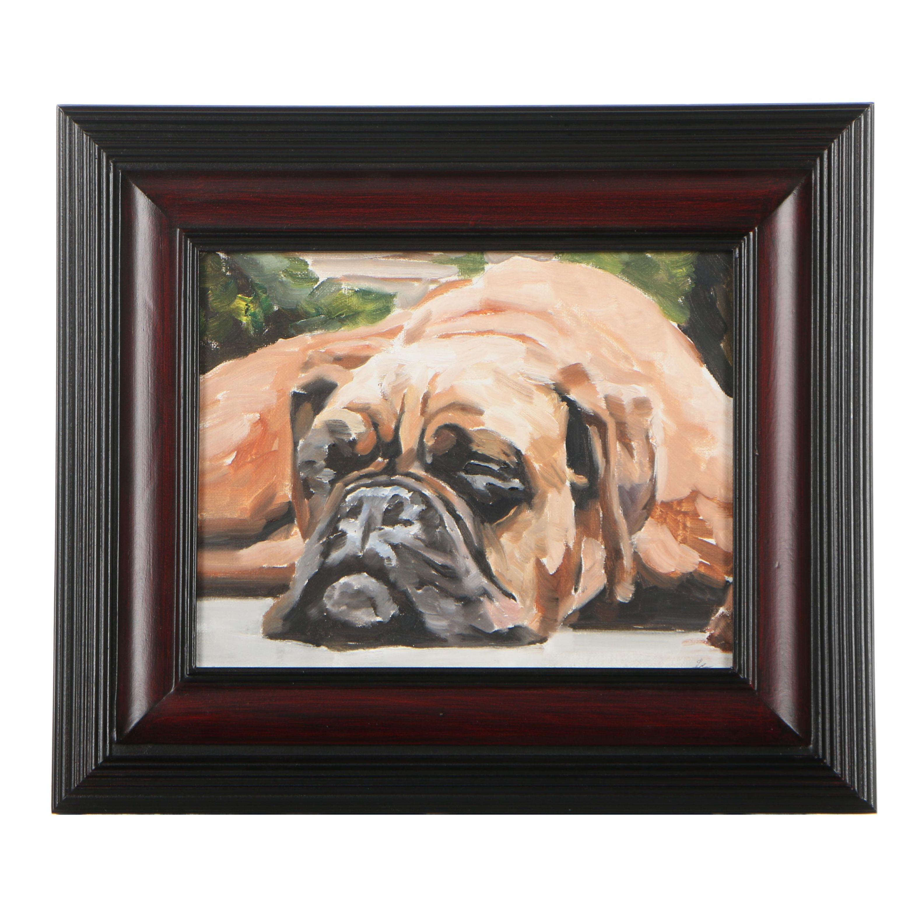 James Coates Oil Painting of Dog