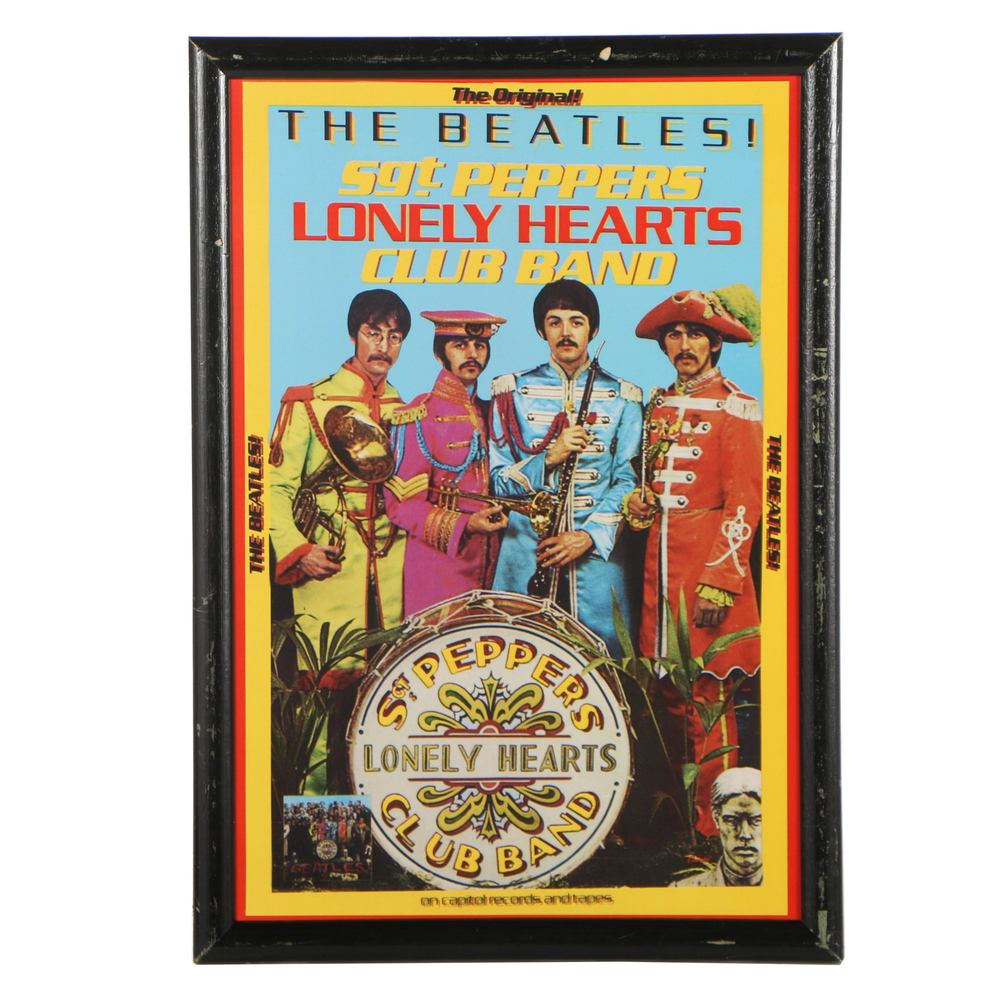 """Offset Lithograph Beatles Poster """"Sgt. Peppers Lonely Hearts Club Band"""""""