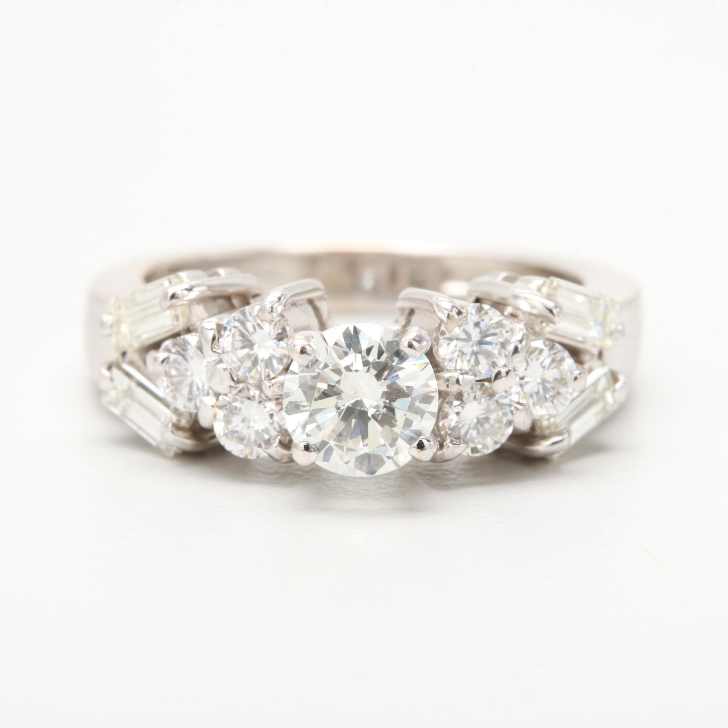 Egyptian 18K White Gold 1.52 CTW Diamond Ring