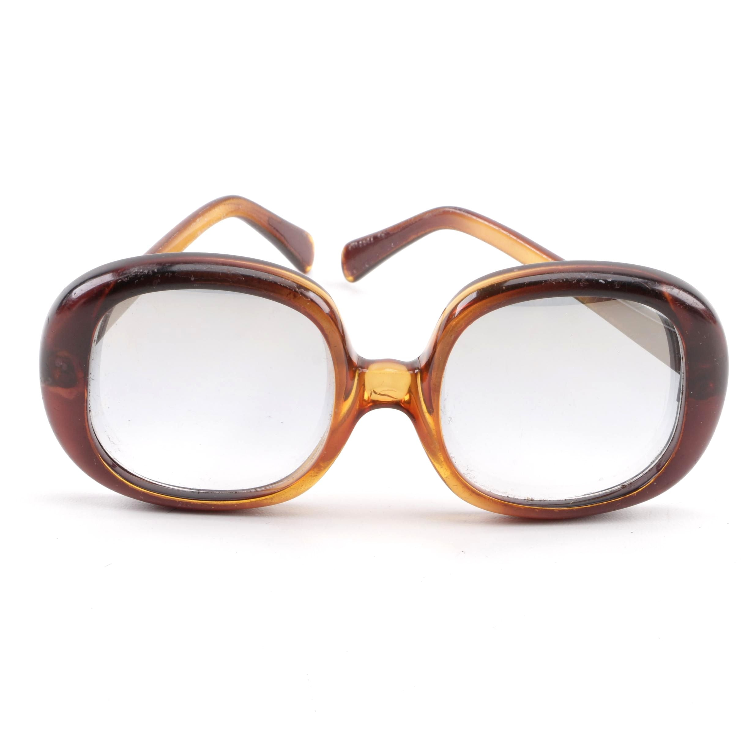 Vintage Christian Dior Brown and Amber Sunglasses