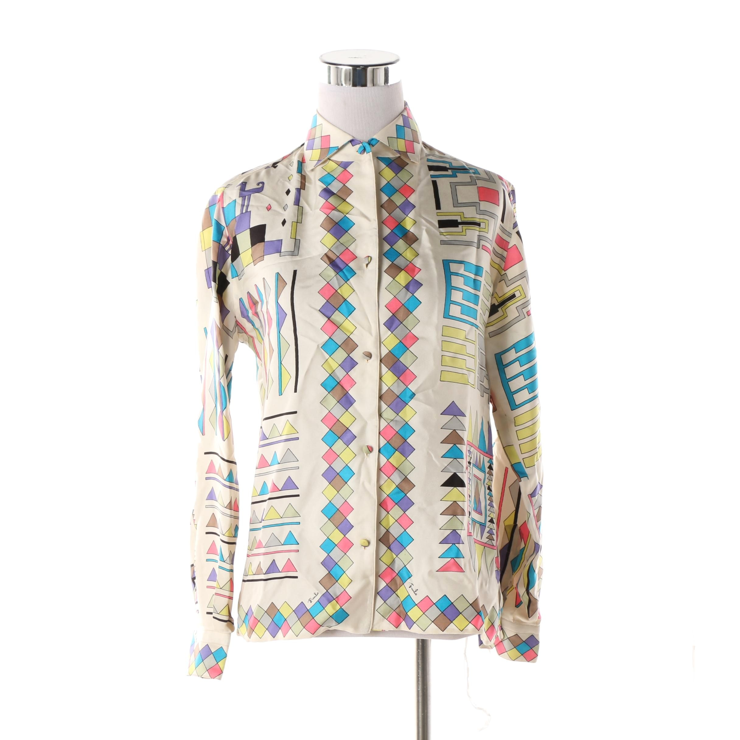 Women's Circa 1960s Emilio Pucci Silk Blouse