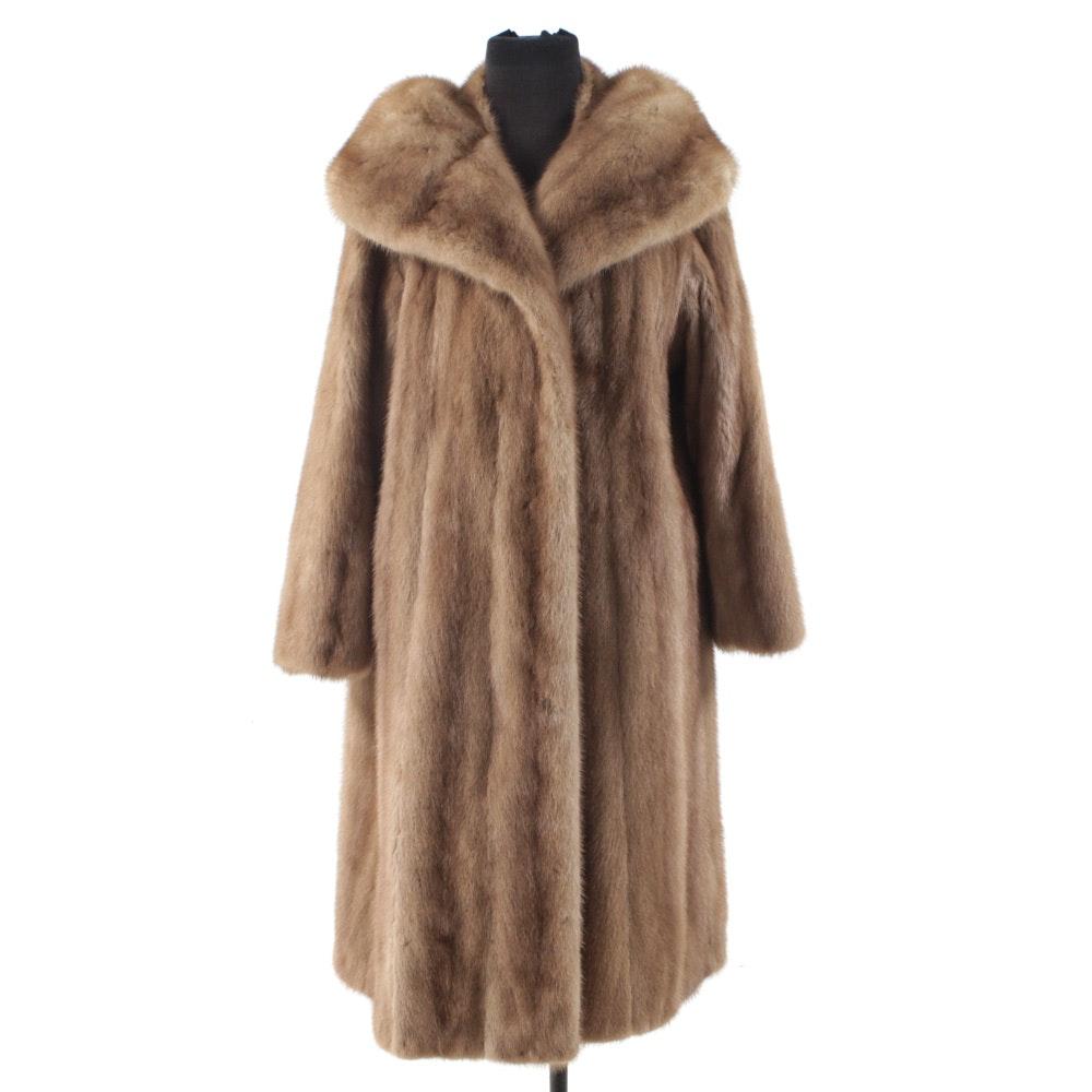 Vintage Pastel Mink Fur Coat by Gimbels