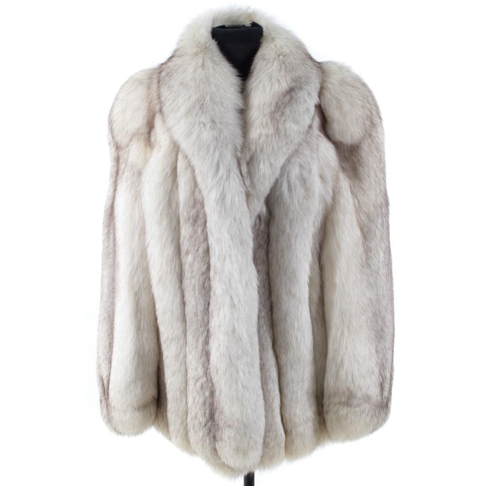 Full Skin Blue Fox Fur Jacket