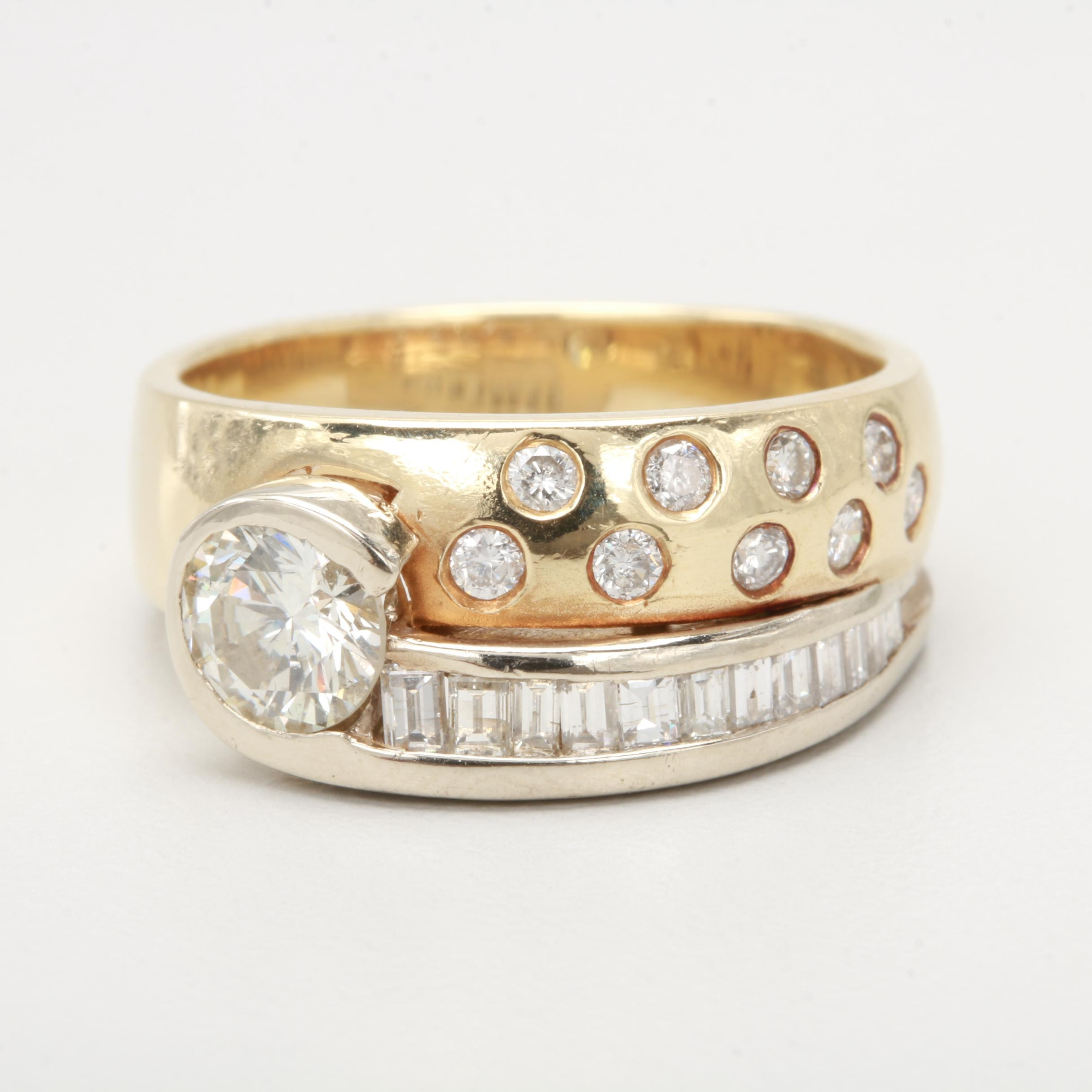 14K Yellow Gold 1.24 CTW Diamond Ring