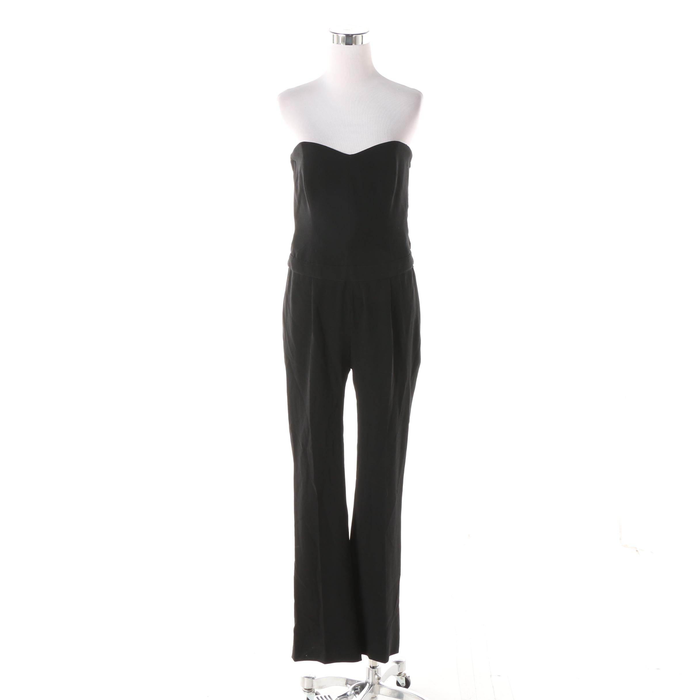 Women's Circa 1990s Moschino Cheap and Chic Black Strapless Jumpsuit