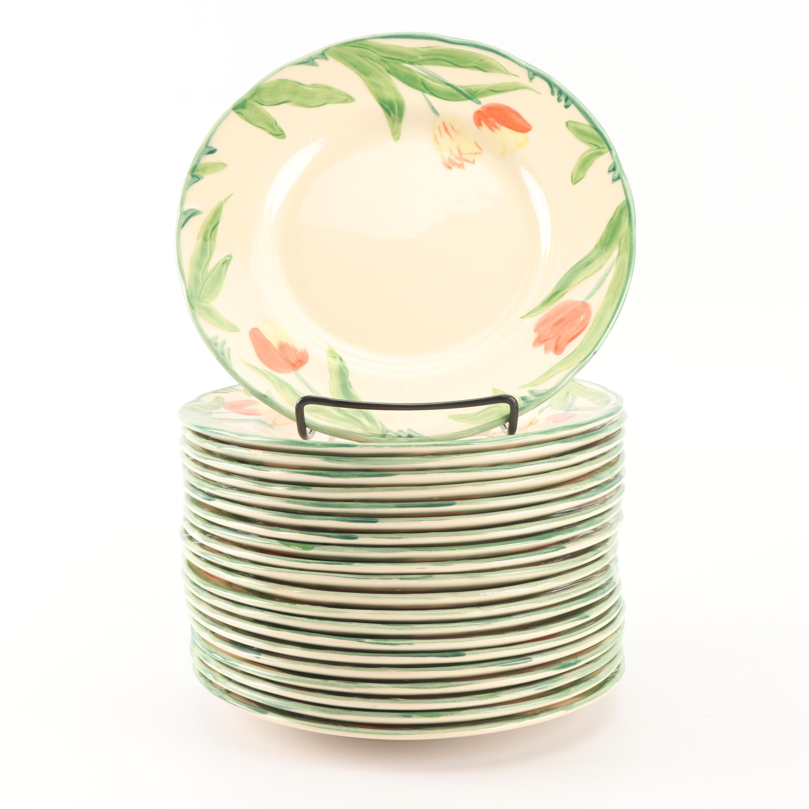 "Vintage Franciscan ""Tulip"" Earthenware Salad Plates c. 1987-90"