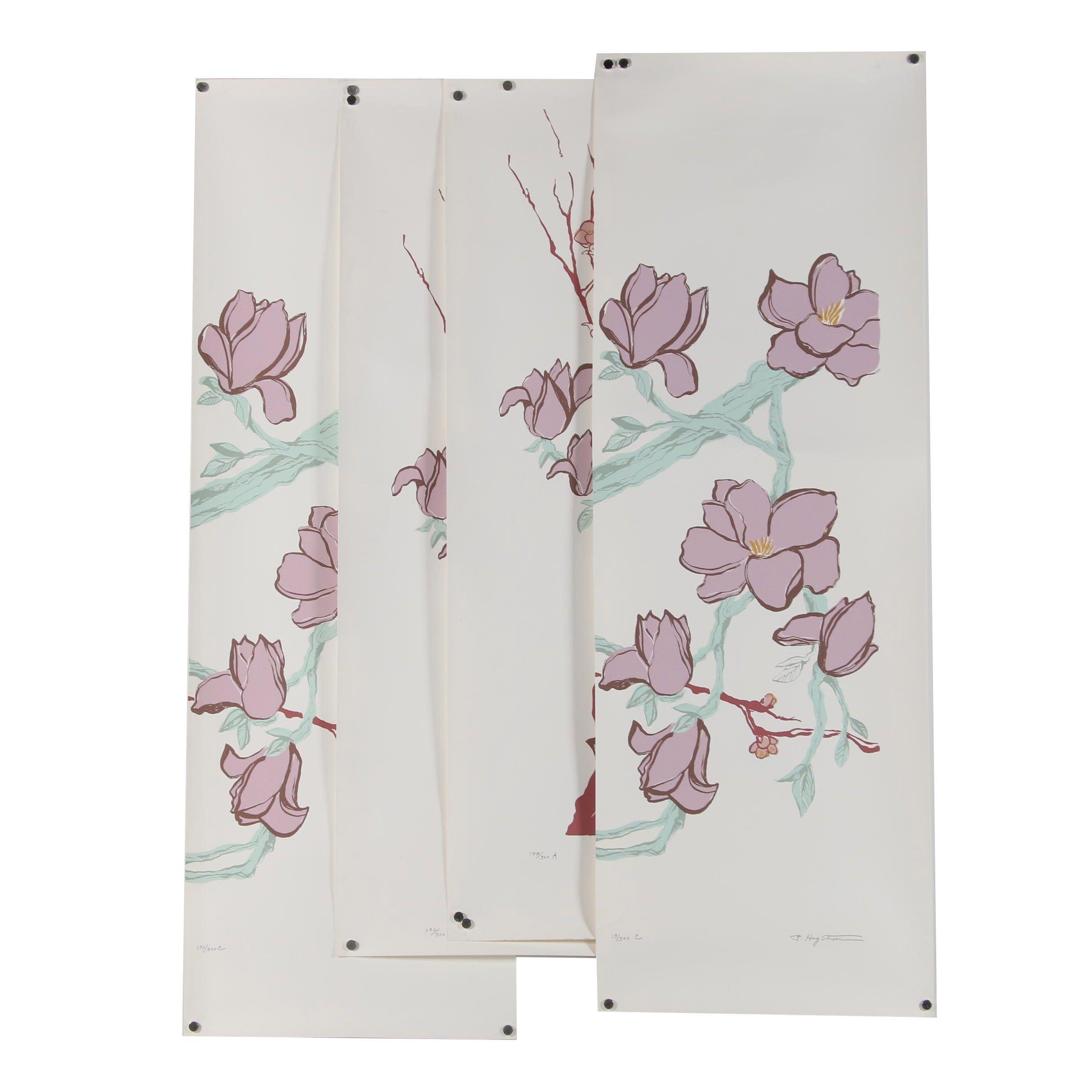 "Patricia Hagstom Serigraphs ""Magnolia Blossoms"" Series"
