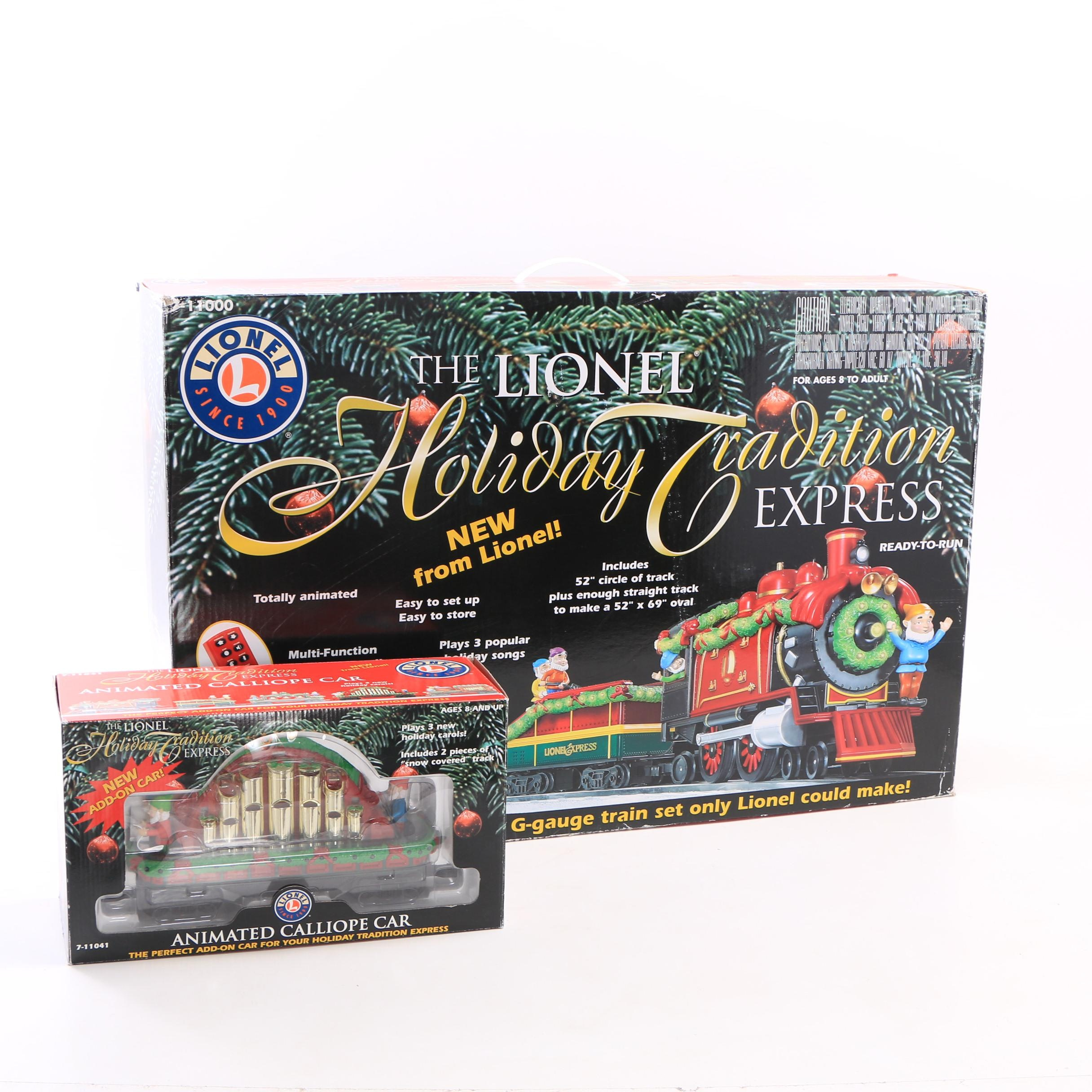 """Lionel """"Holiday Tradition Express"""" G-Gauge Train Set with Calliope Car"""