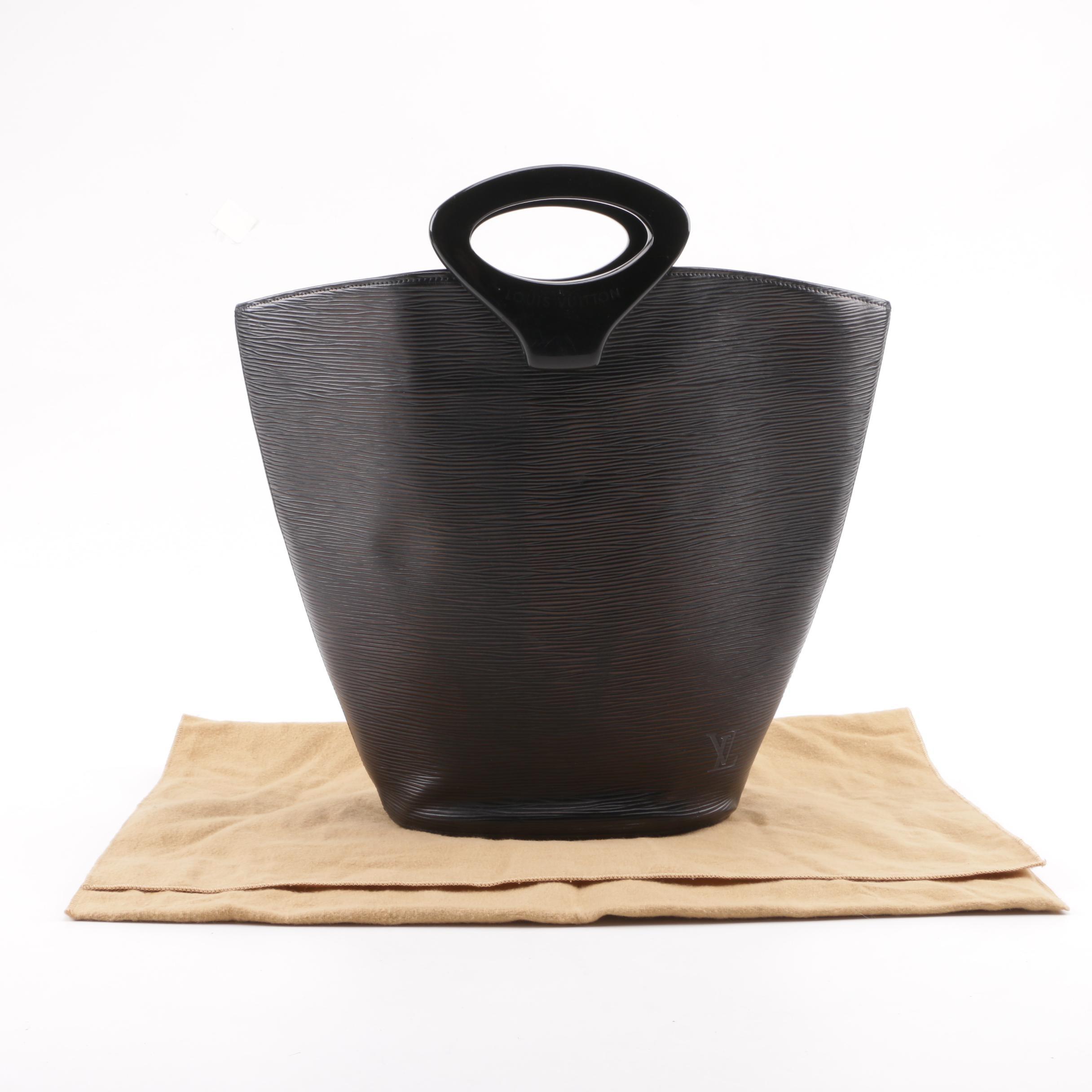 Louis Vuitton Paris Black Epi Leather Noctambule Tote Bag