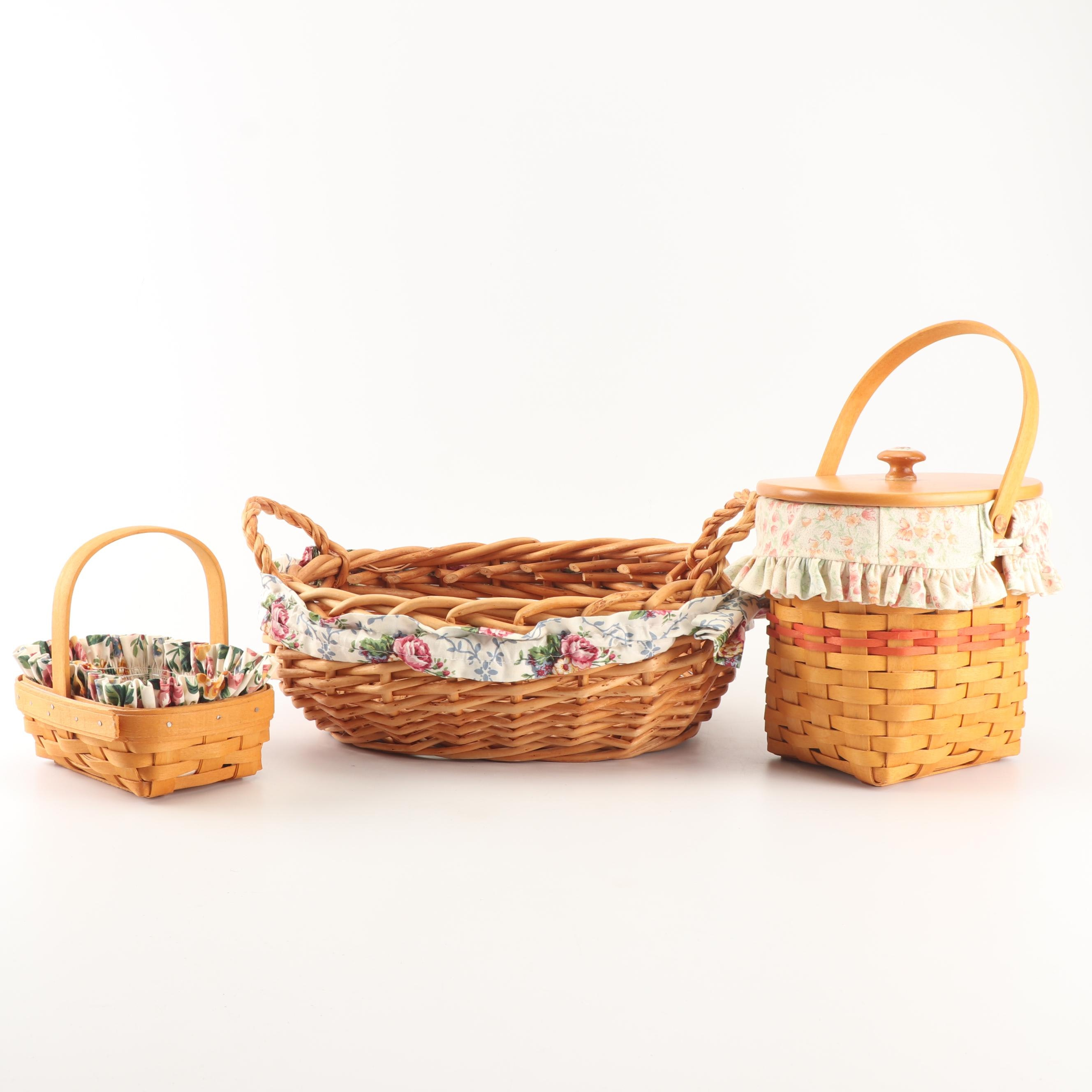 "Longaberger 1996 ""Horizon of Hope"" and 2001 ""Mother's Day"" Baskets"