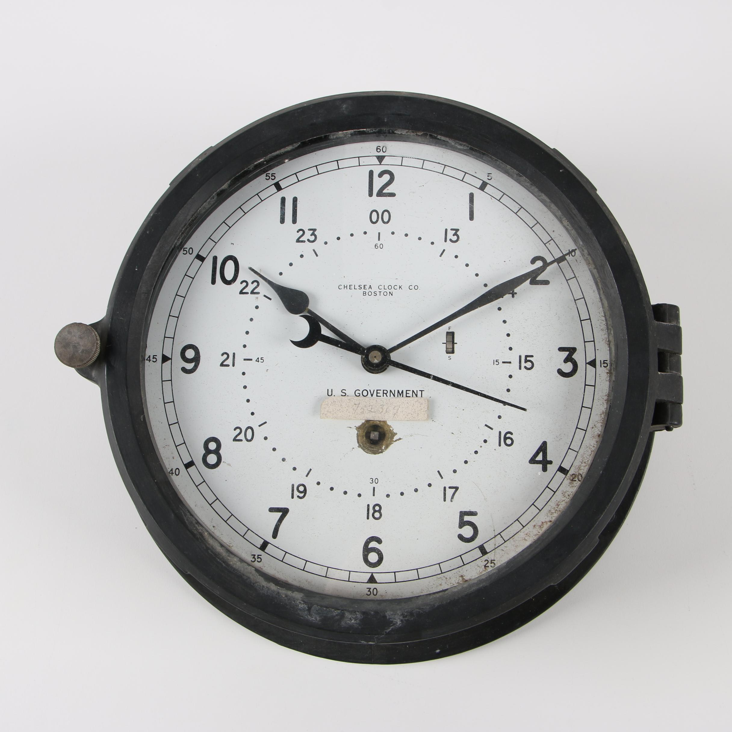 Chelsea Clock Co. U.S. Government Issue Ship Clock
