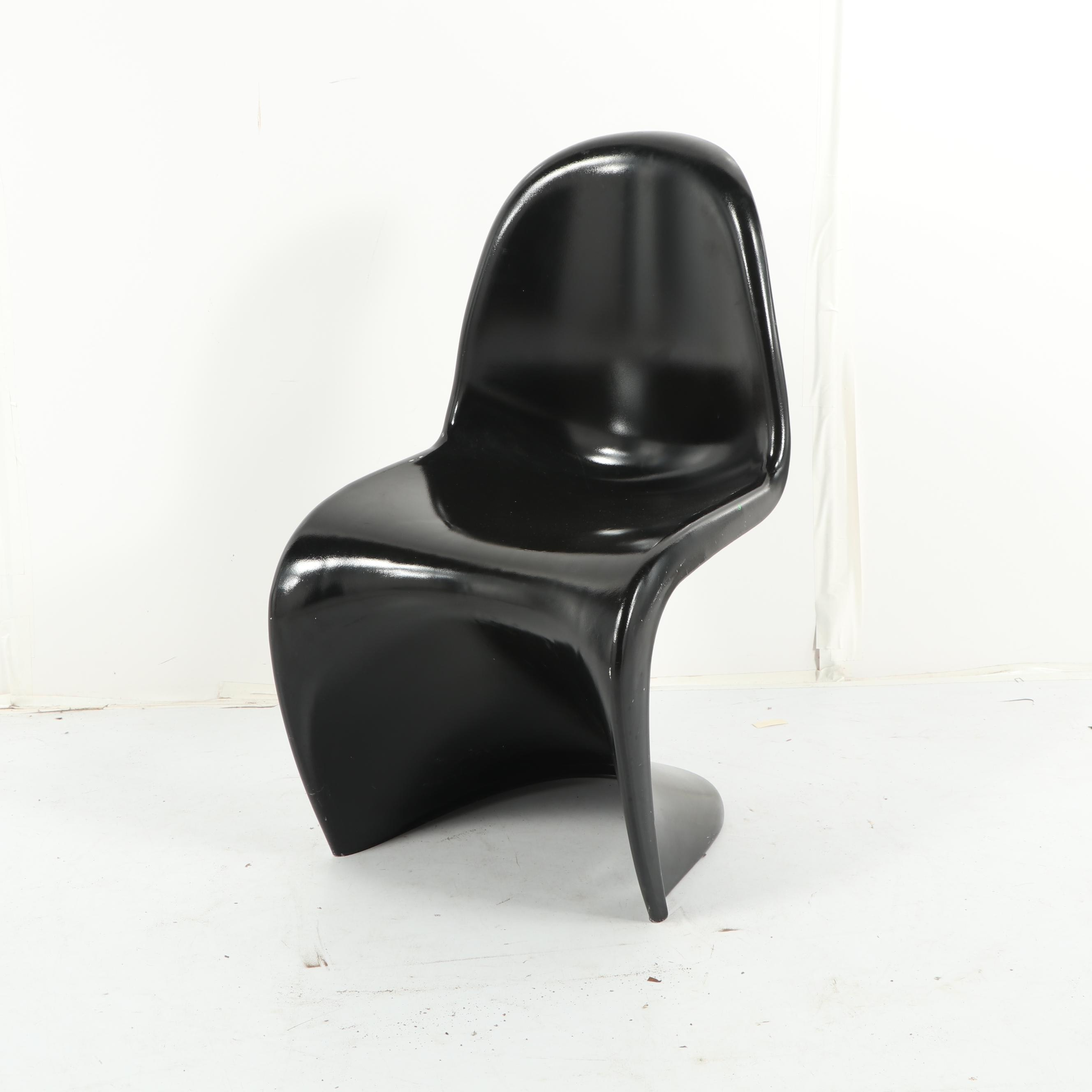 Modernist Style Molded Plastic Chair after Panton, 20th Century