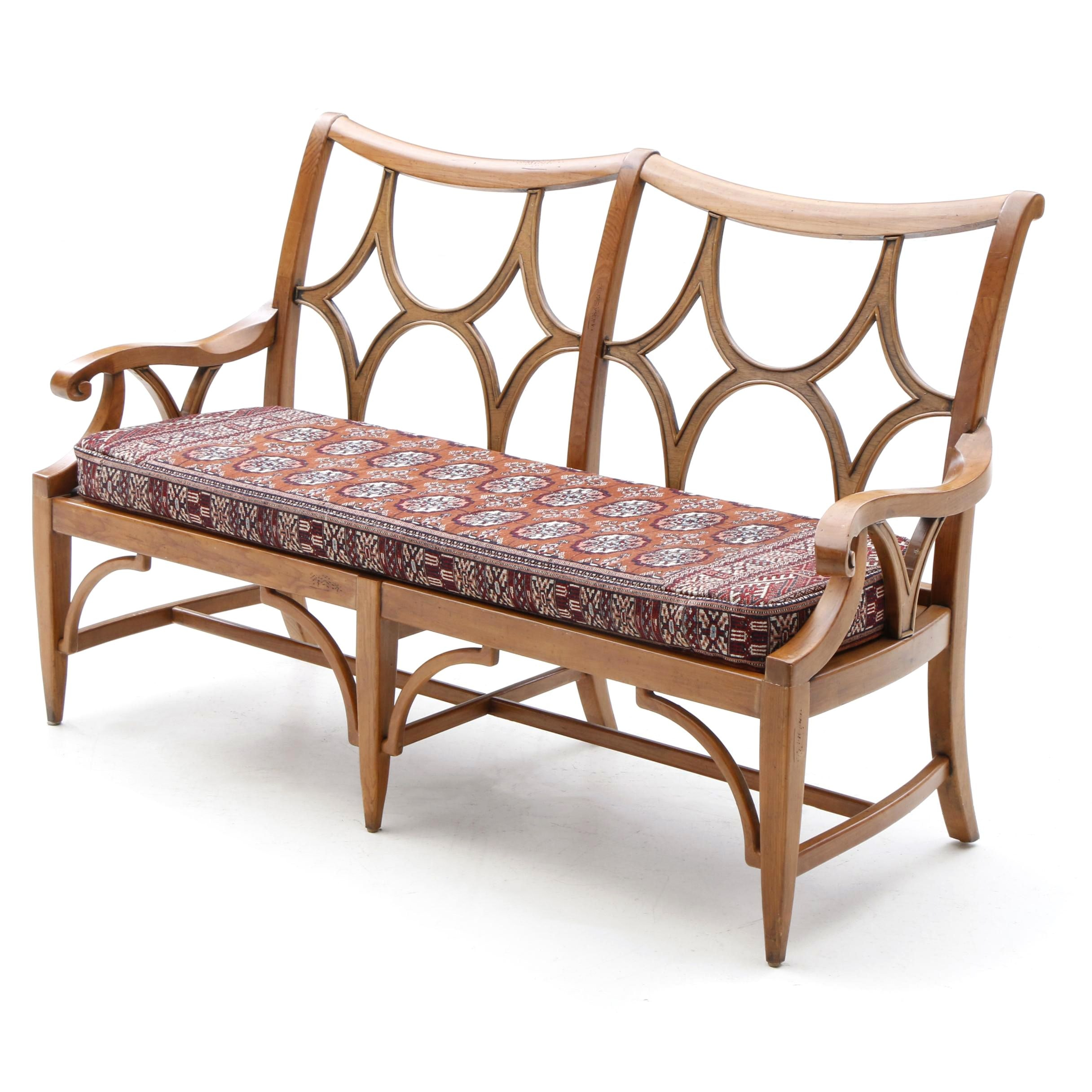 Maple Bench with Bokhara Rug Upholstered Cushion by Pennsylvania House