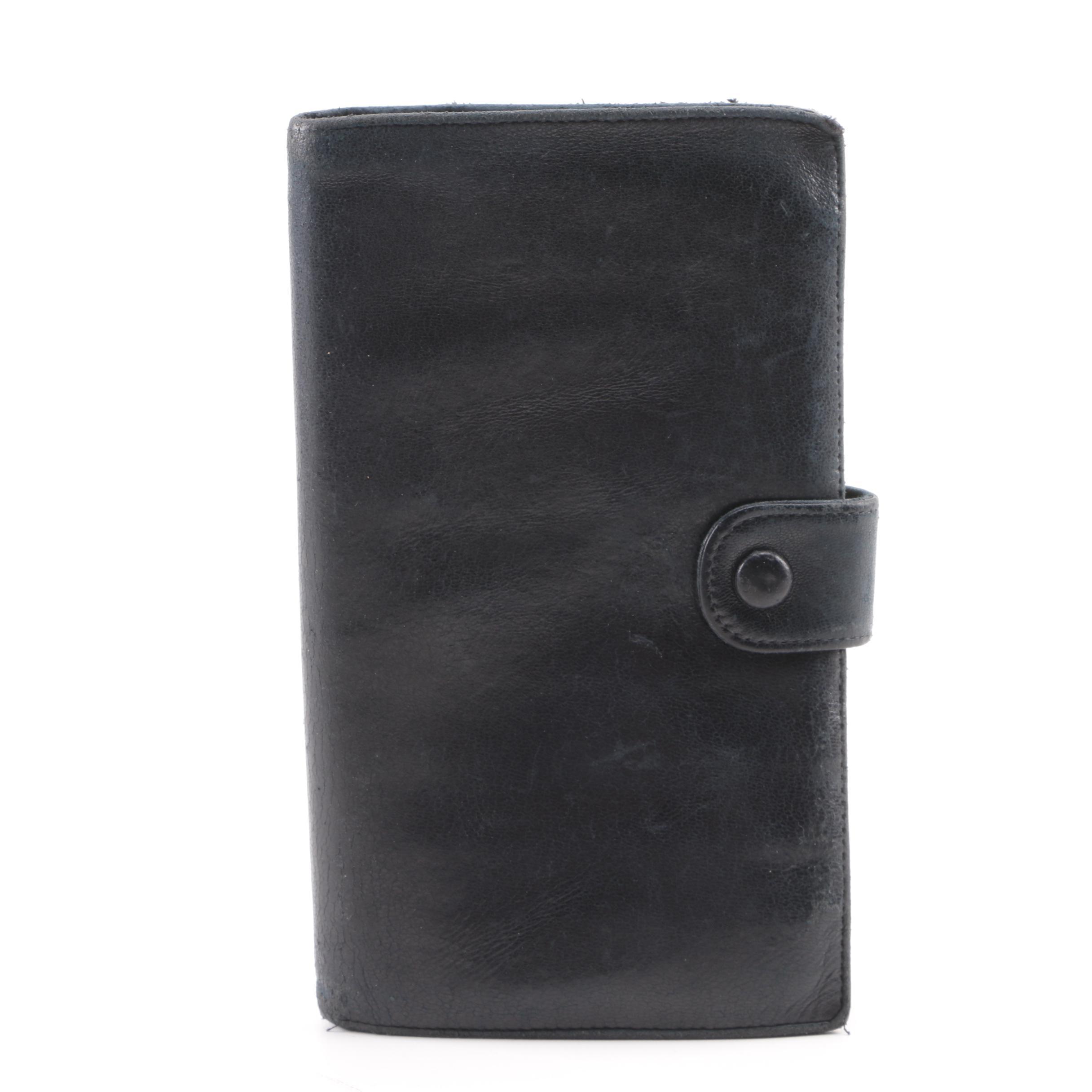 Chanel Black Leather Bifold Wallet