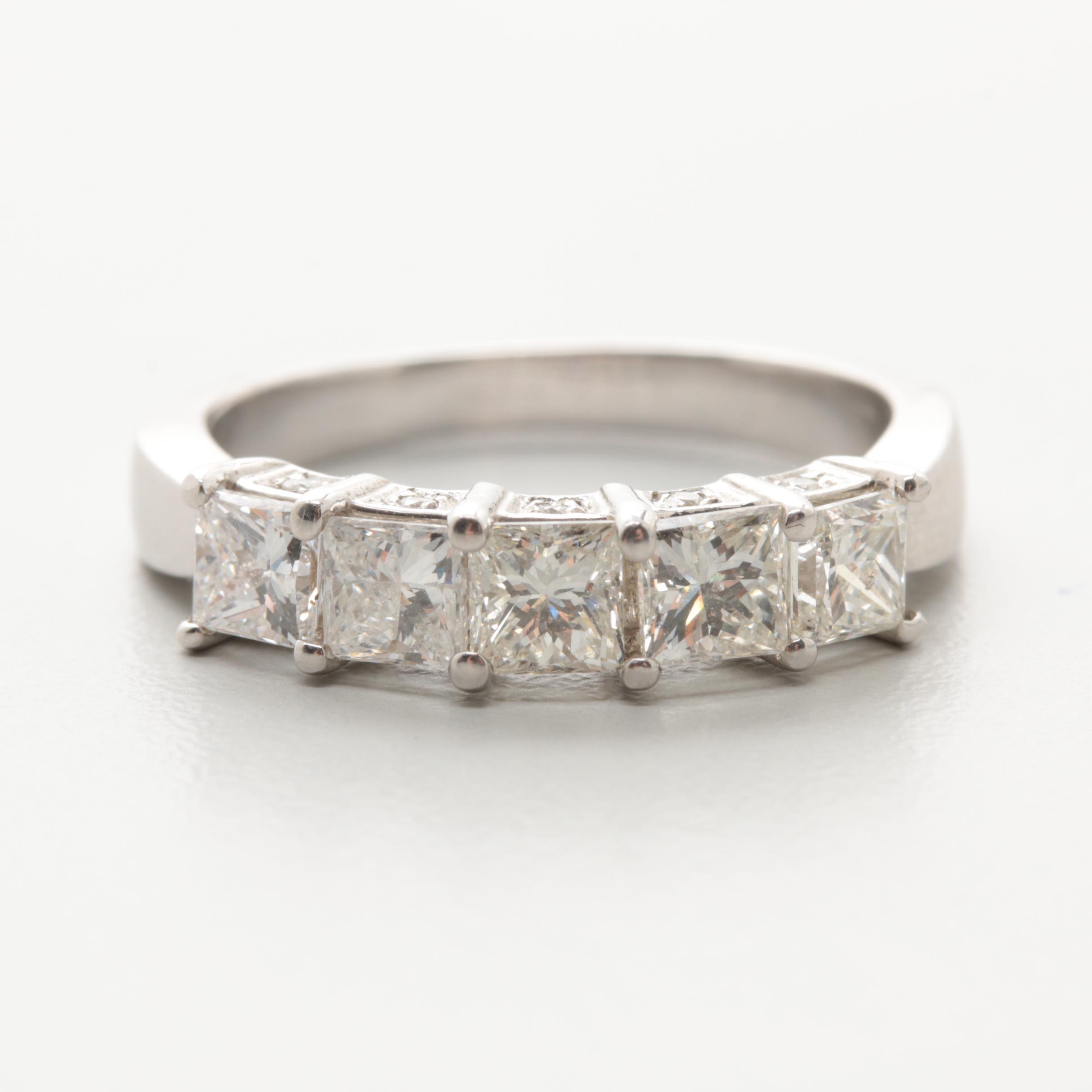 14K White Gold 1.50 CTW Diamond Ring