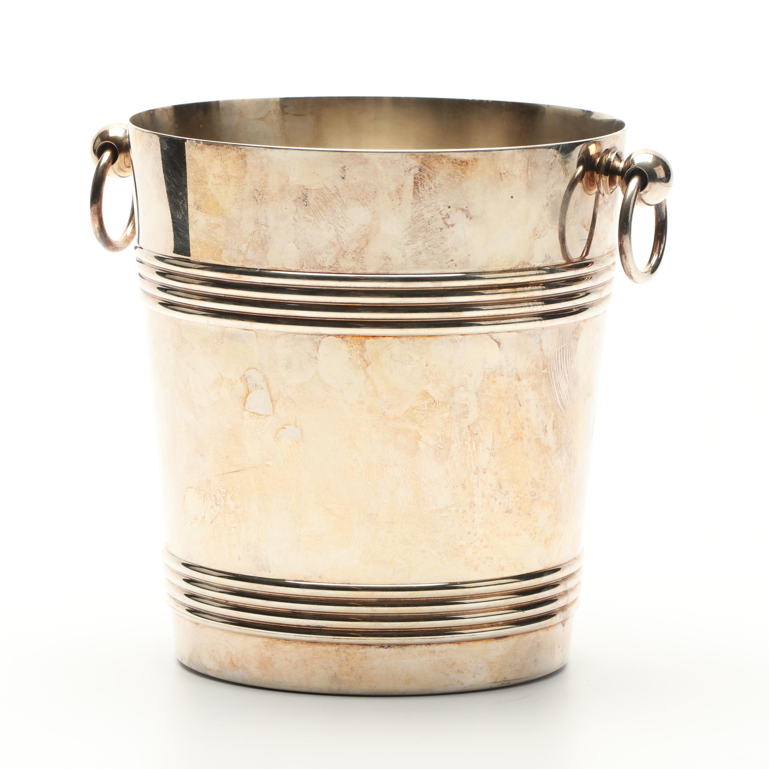 Christofle French Silver Plate Champagne Cooler Bucket