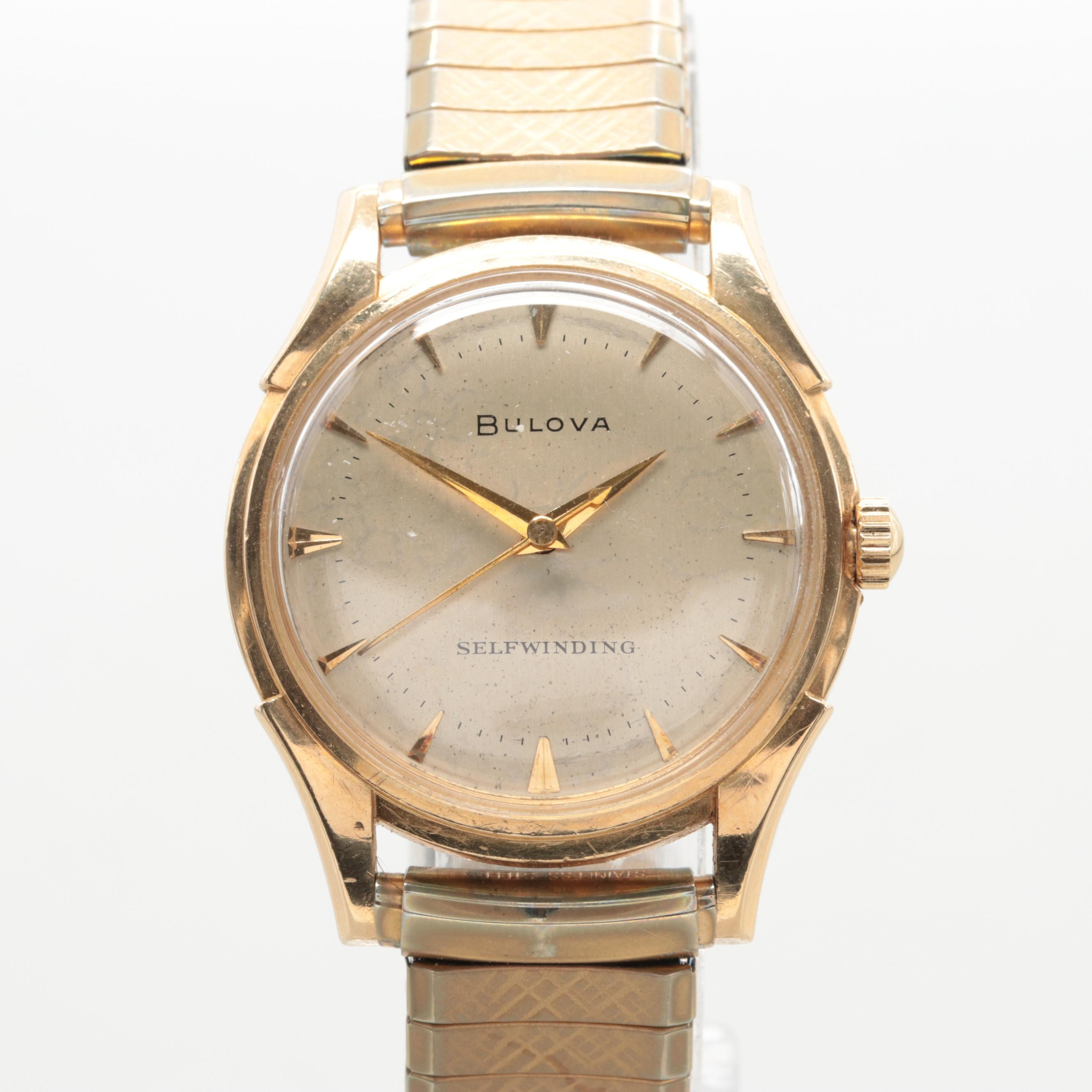 Bulova 14K Yellow Gold Self-Winding Wristwatch