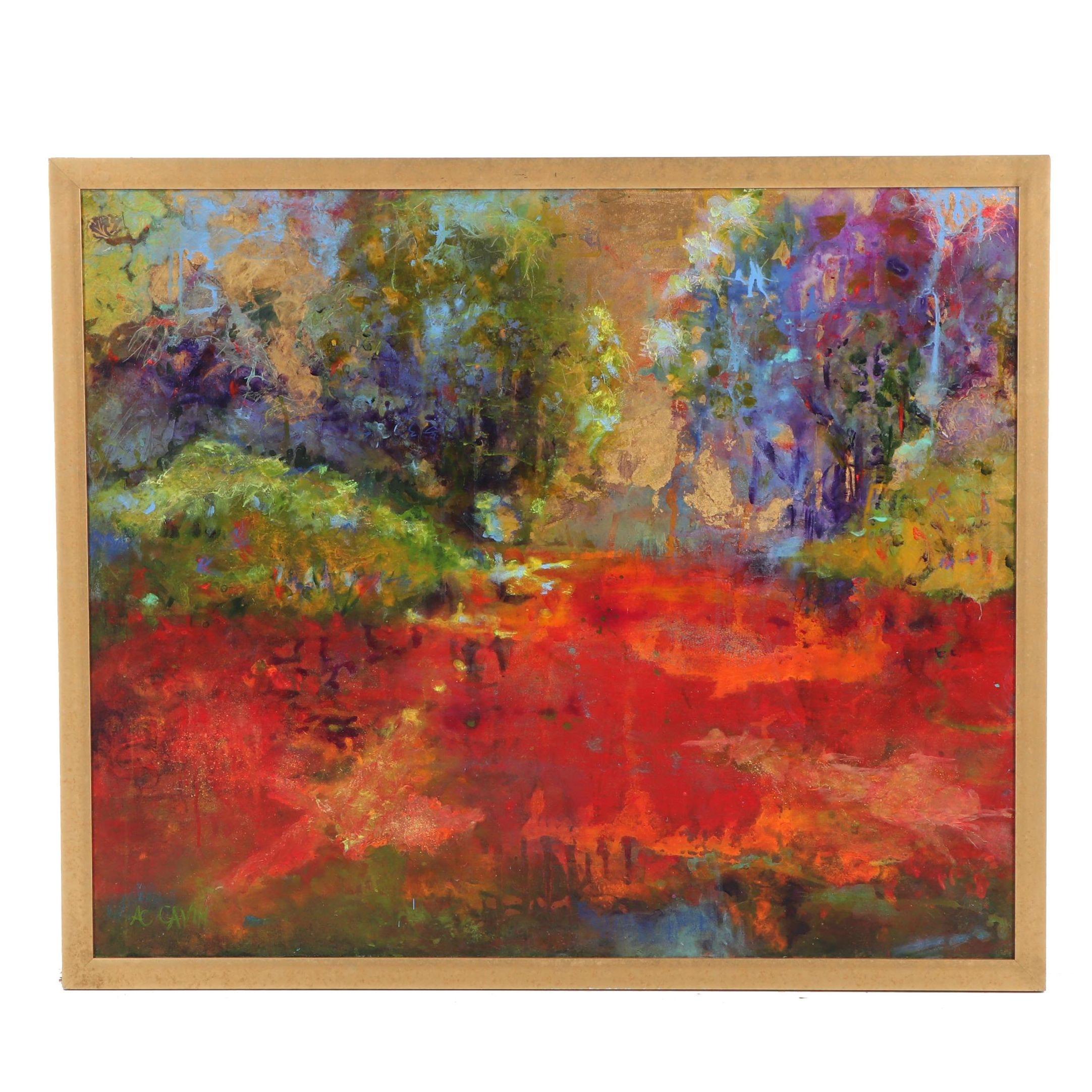 A.C. Gavin Abstract Acrylic Painting