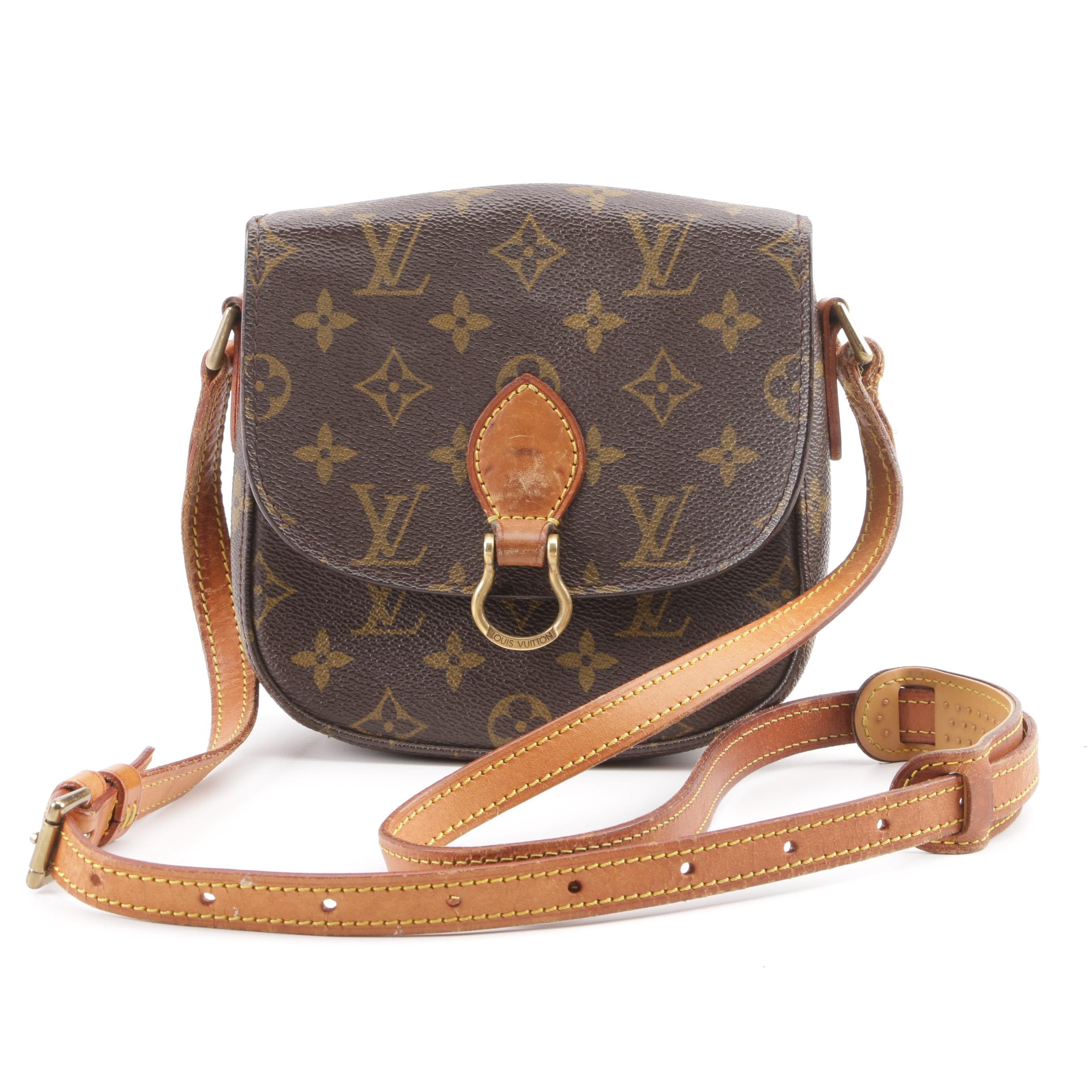 1988 Vintage Louis Vuitton Paris Monogram Canvas Saint Cloud PM Crossbody Bag