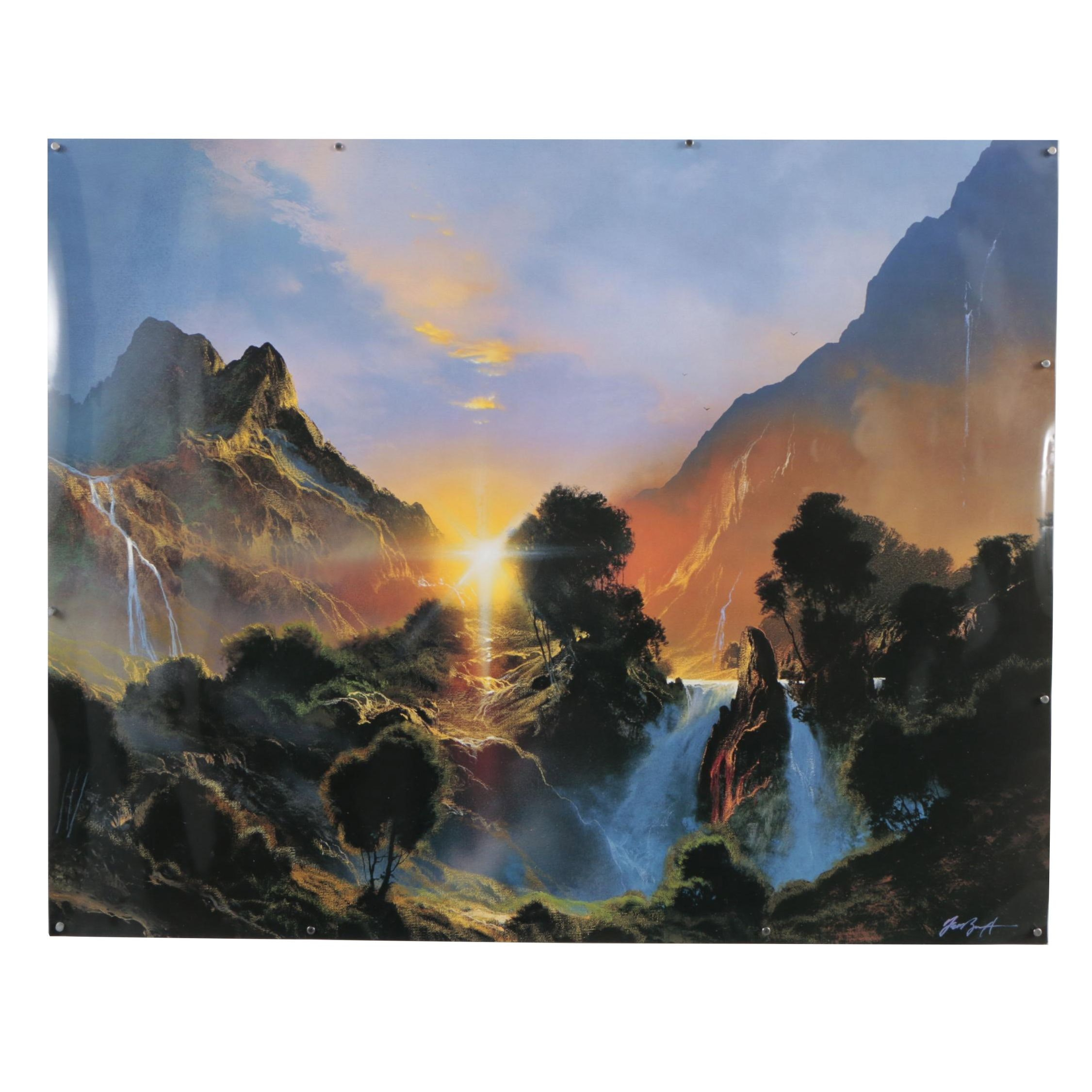 """Offset Lithograph after Dale Terbush  """"Paradise of the Ancient"""""""