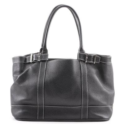 4dac00feab3c Black Pebbled Leather Tote Bag