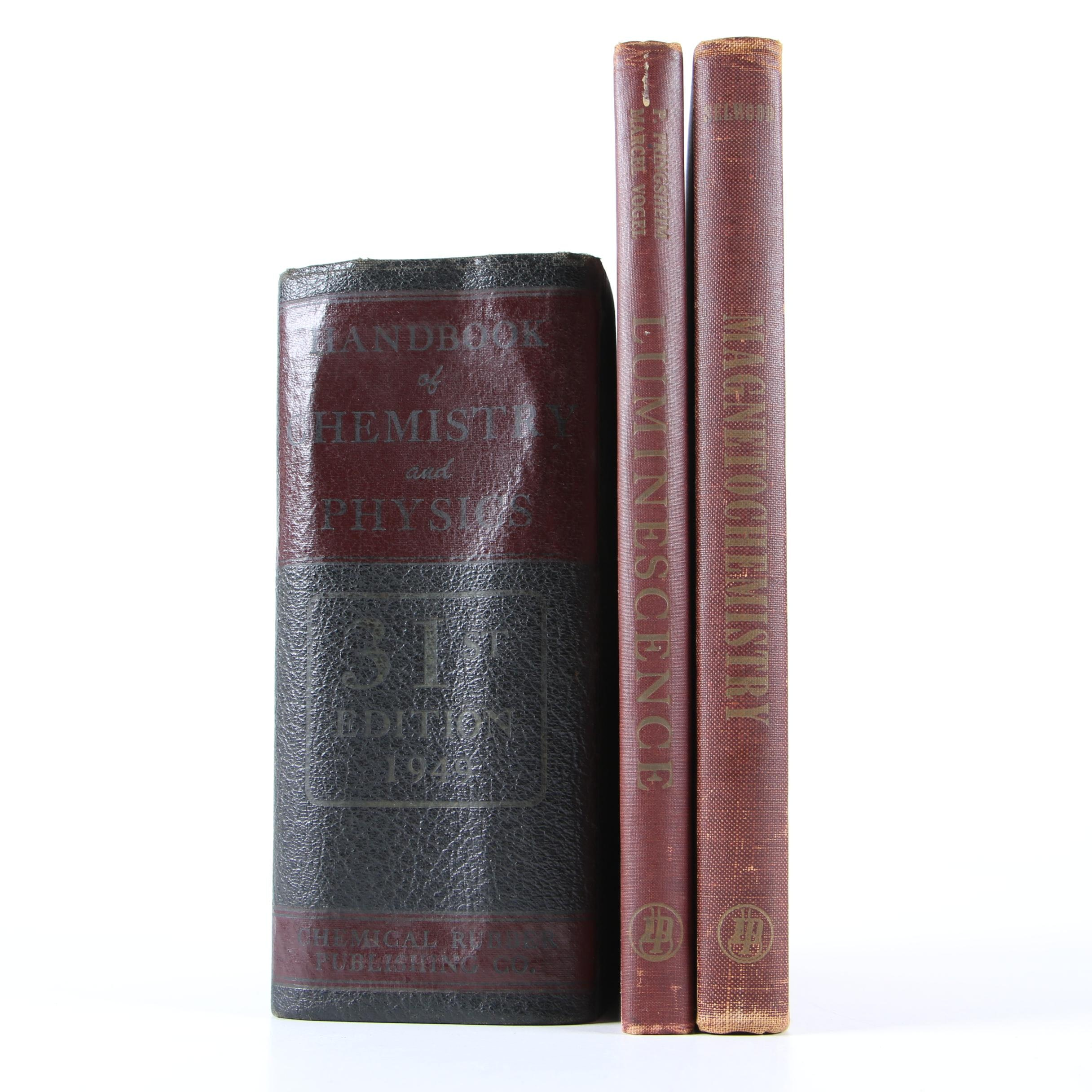"""1940s """"Handbook of Chemistry and Physics"""" and Other Science Reference Books"""