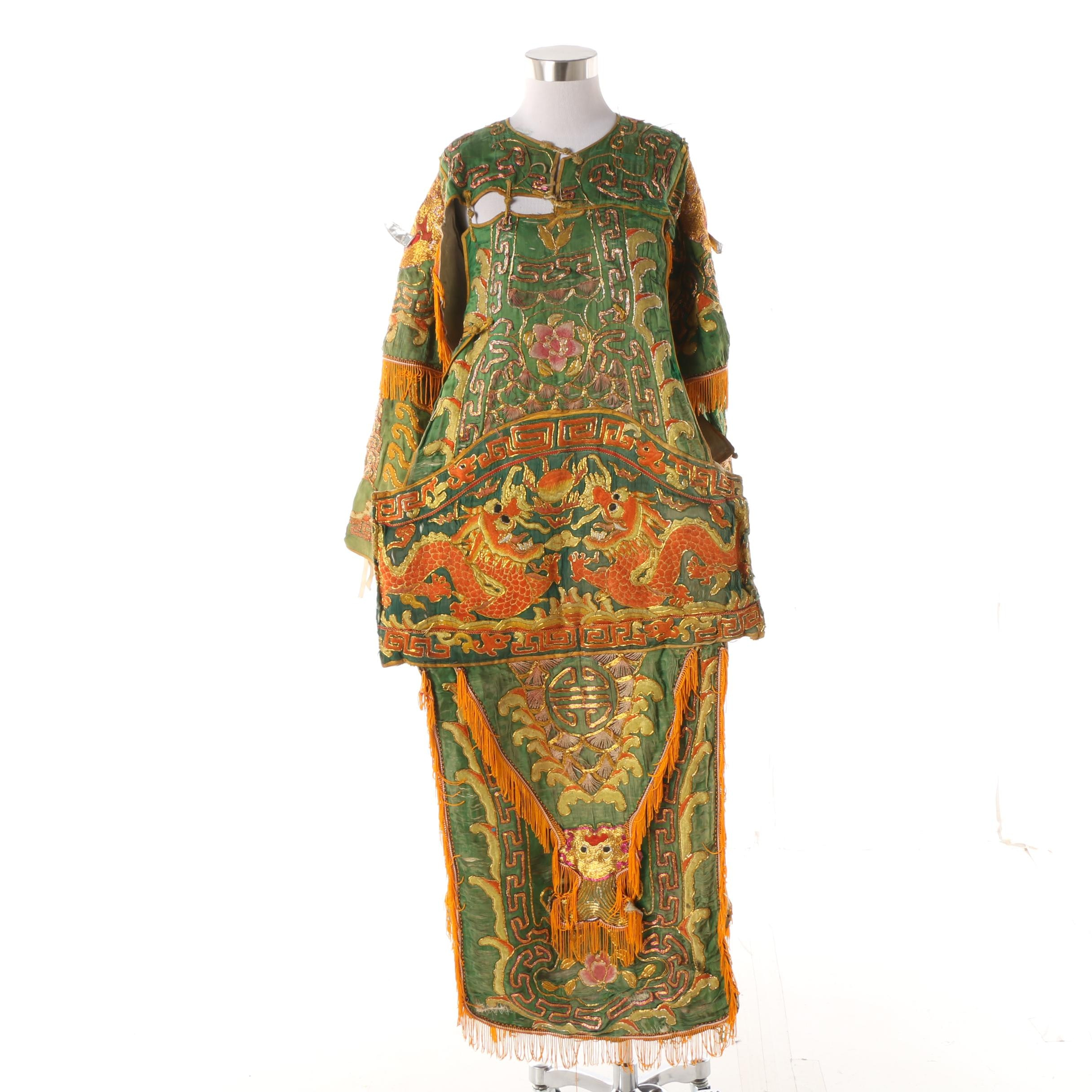 Chinese Peking Opera Embroidered Theatrical Warrior Costume