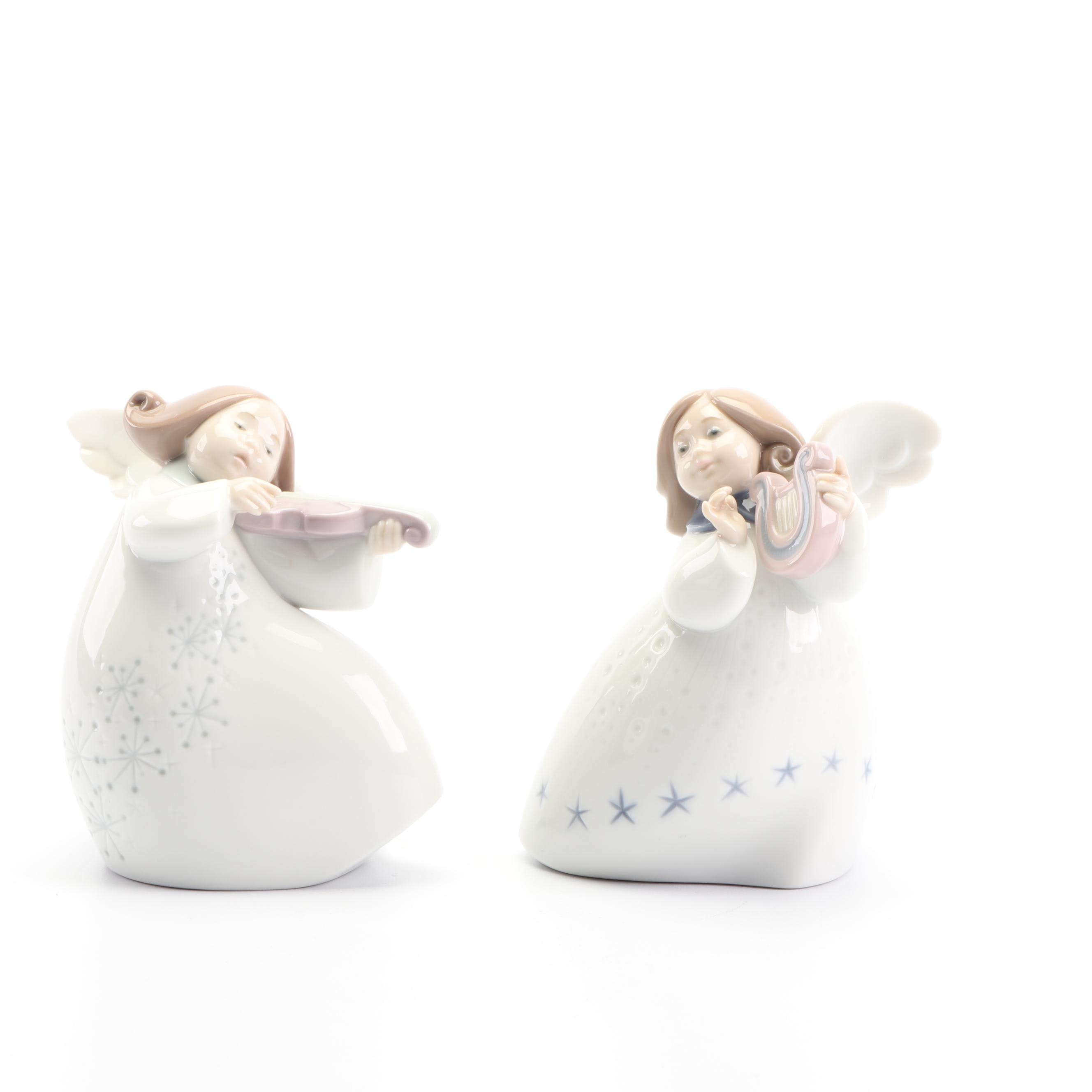 "Lladró Celestial Porcelain Figurines including ""Little Angle with Lyre"""