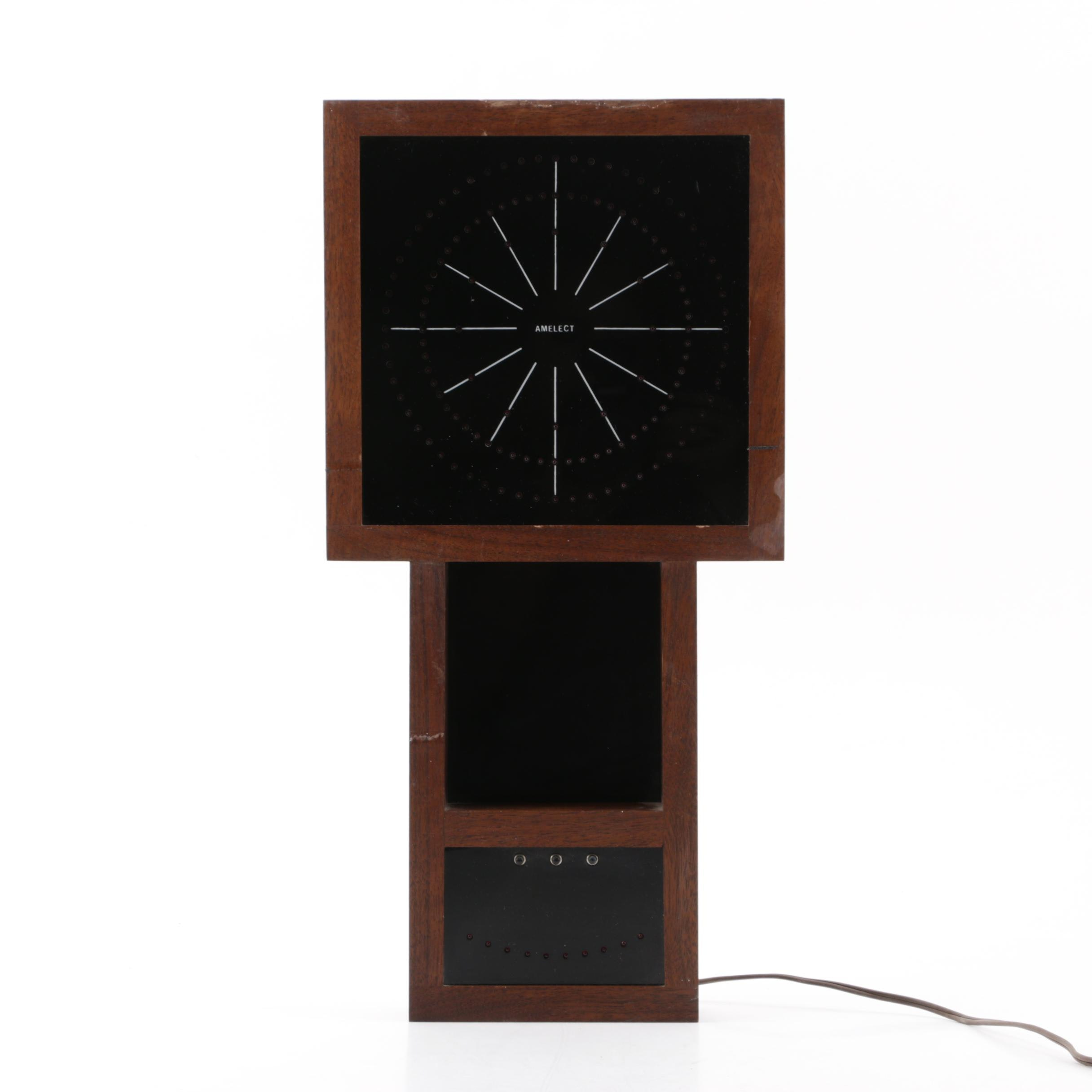 "Amelect ""Electronic Eye"" Wall Clock, Mid Century"