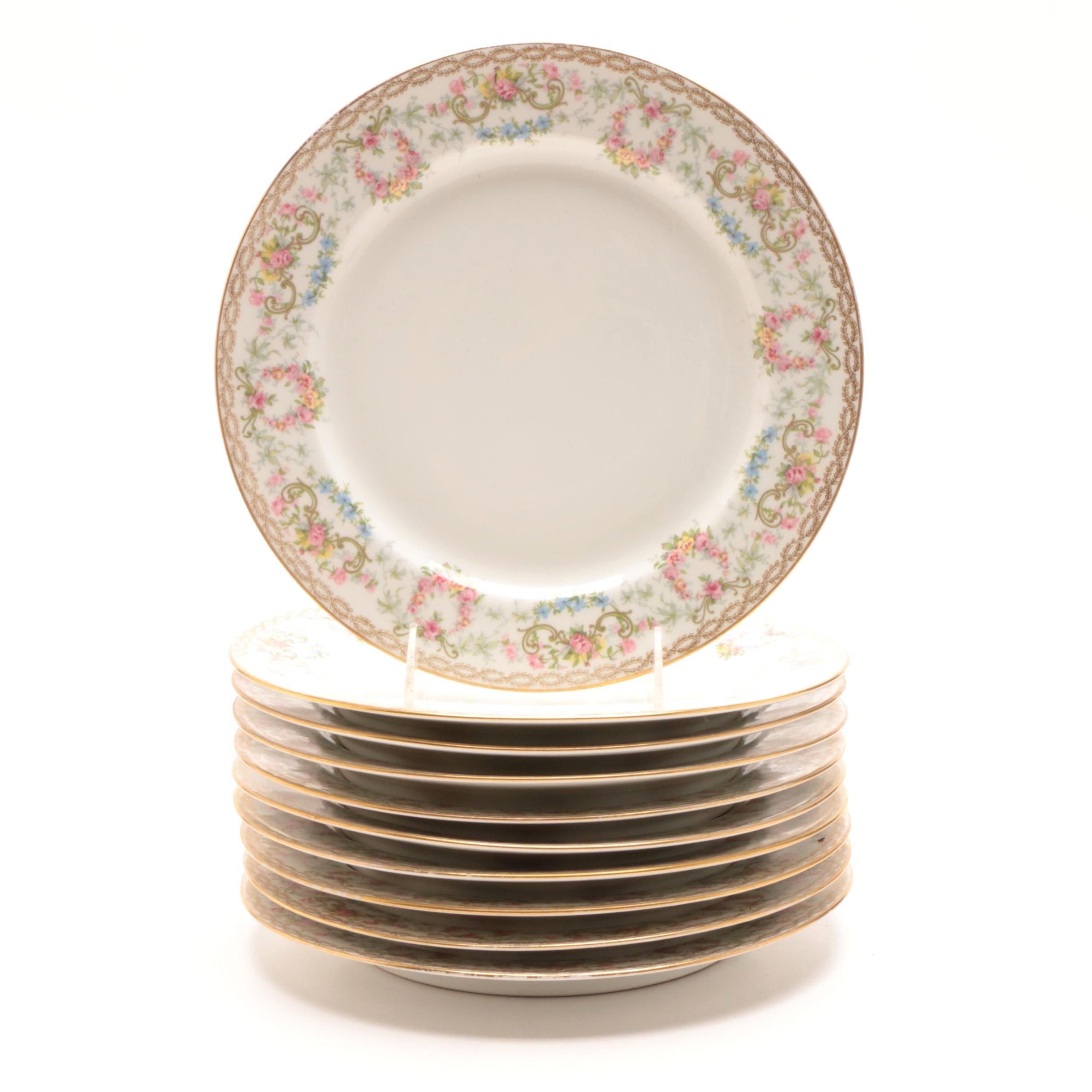 J. Pouyat Limoges Porcelain Dinner Plates