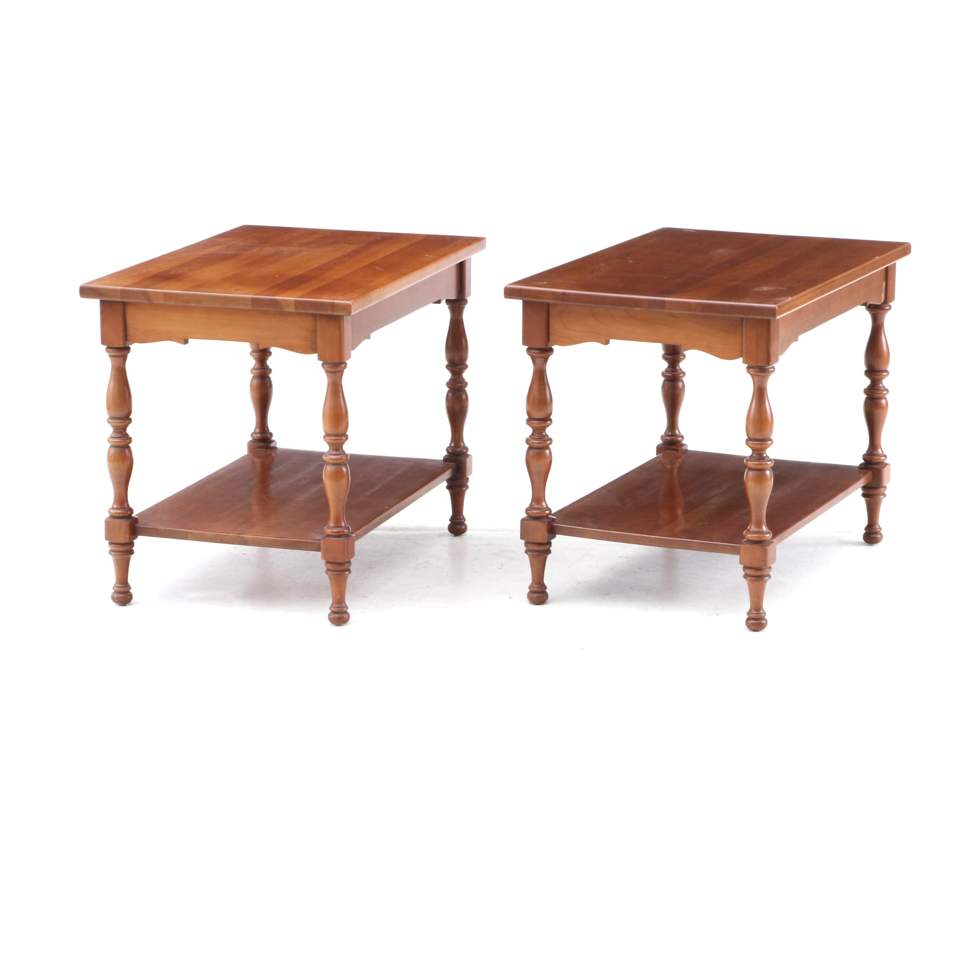 Federal Style Cherry Side Tables by Brandt, Mid-20th Century