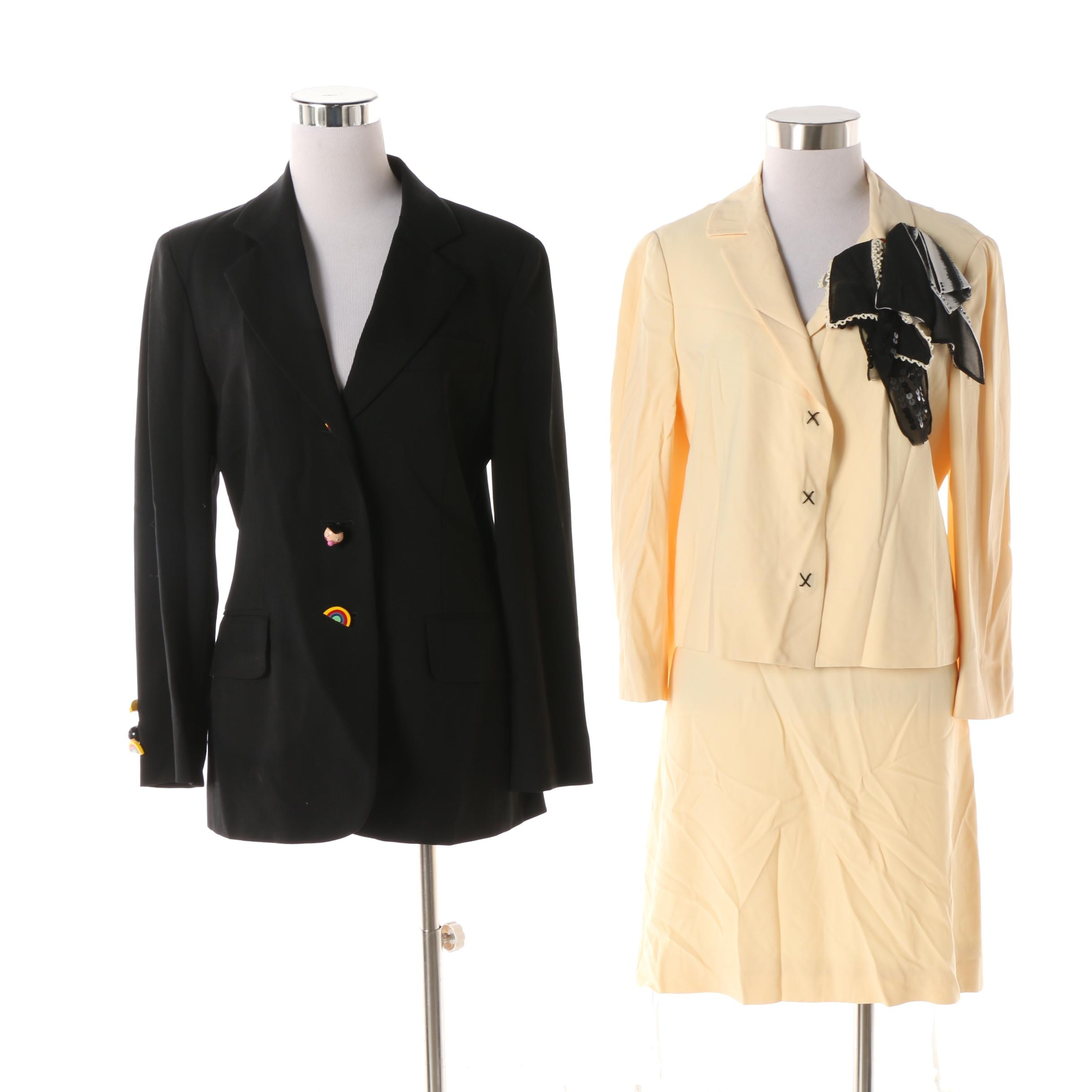 Women's Circa 1990 Vintage Moschino Cheap and Chic Skirt Suit and Jacket