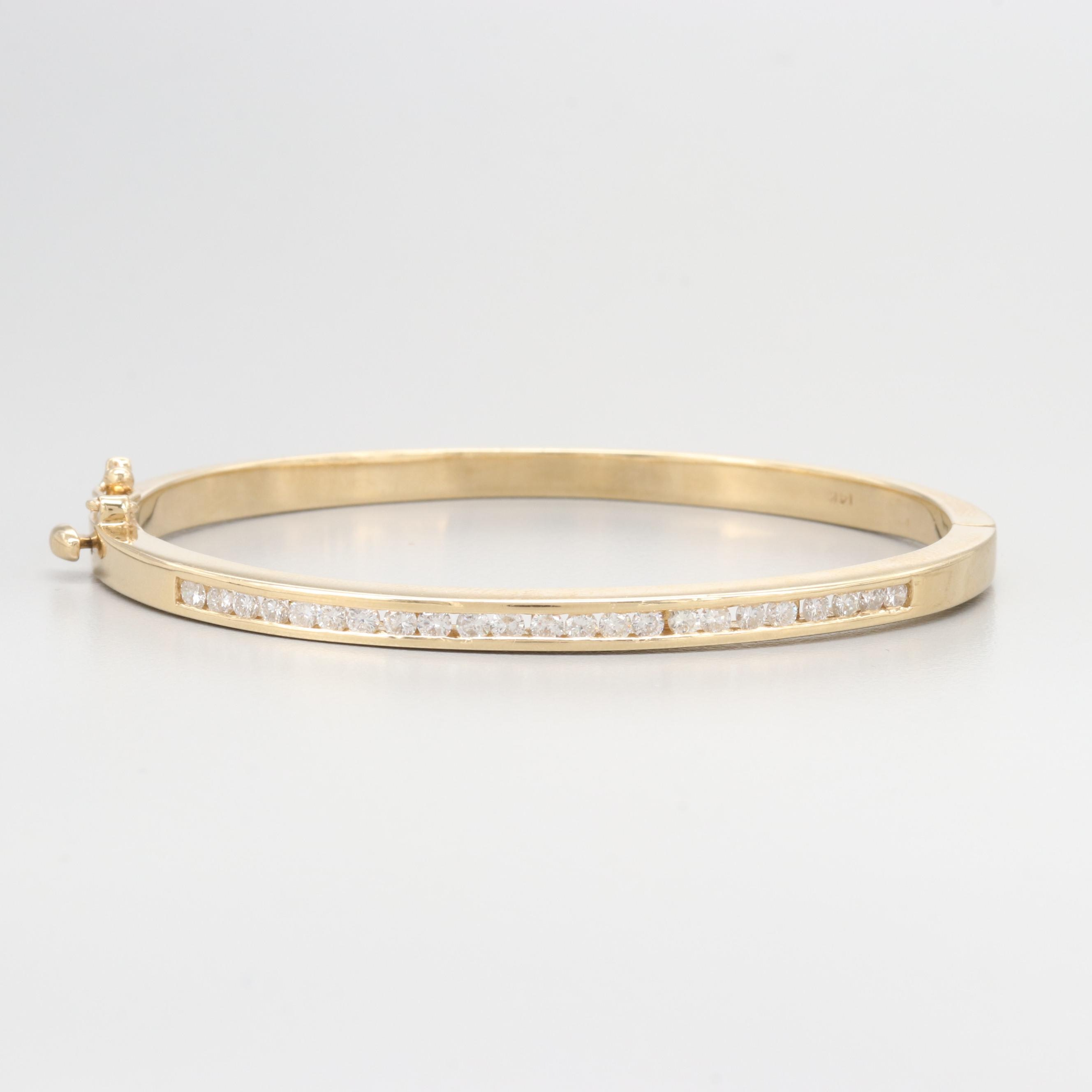 14K Yellow Gold 1.04 CTW Diamond Bracelet