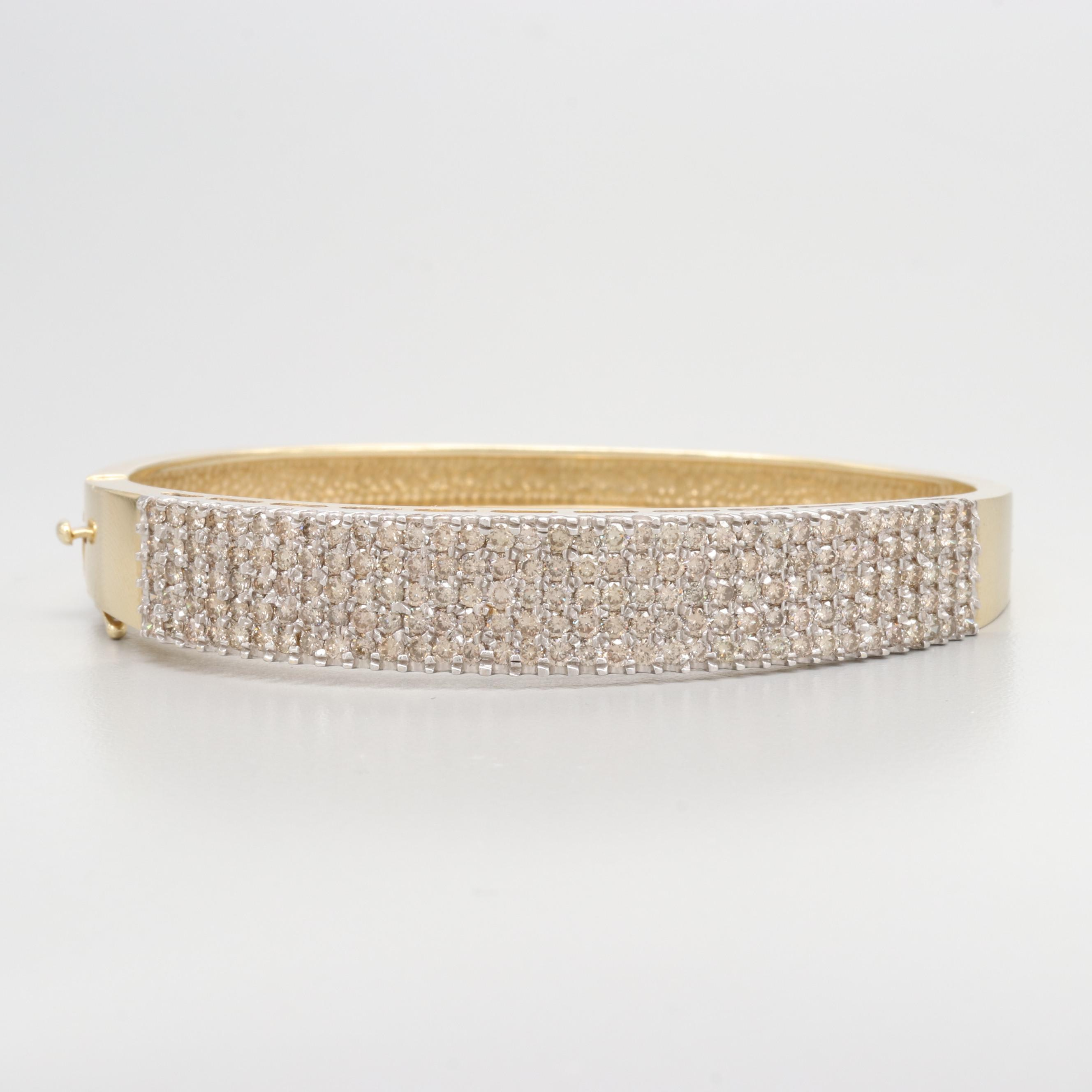 14K Yellow Gold 3.40 CTW Diamond Bracelet