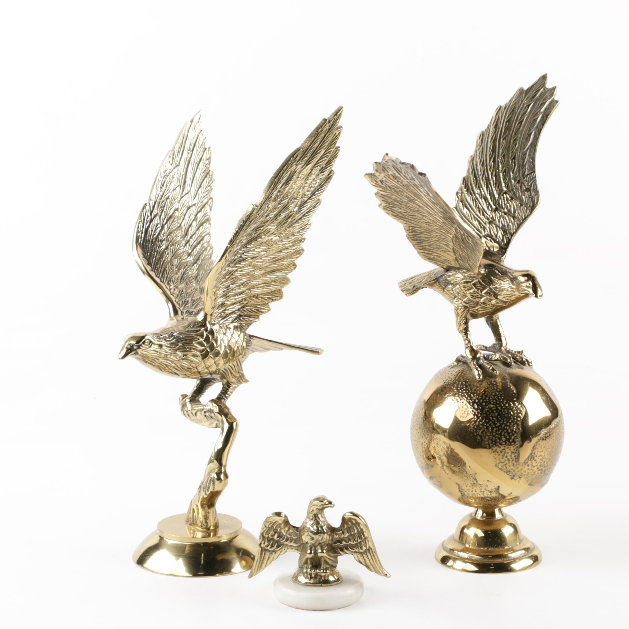American Bald Eagle Brass Sculptures