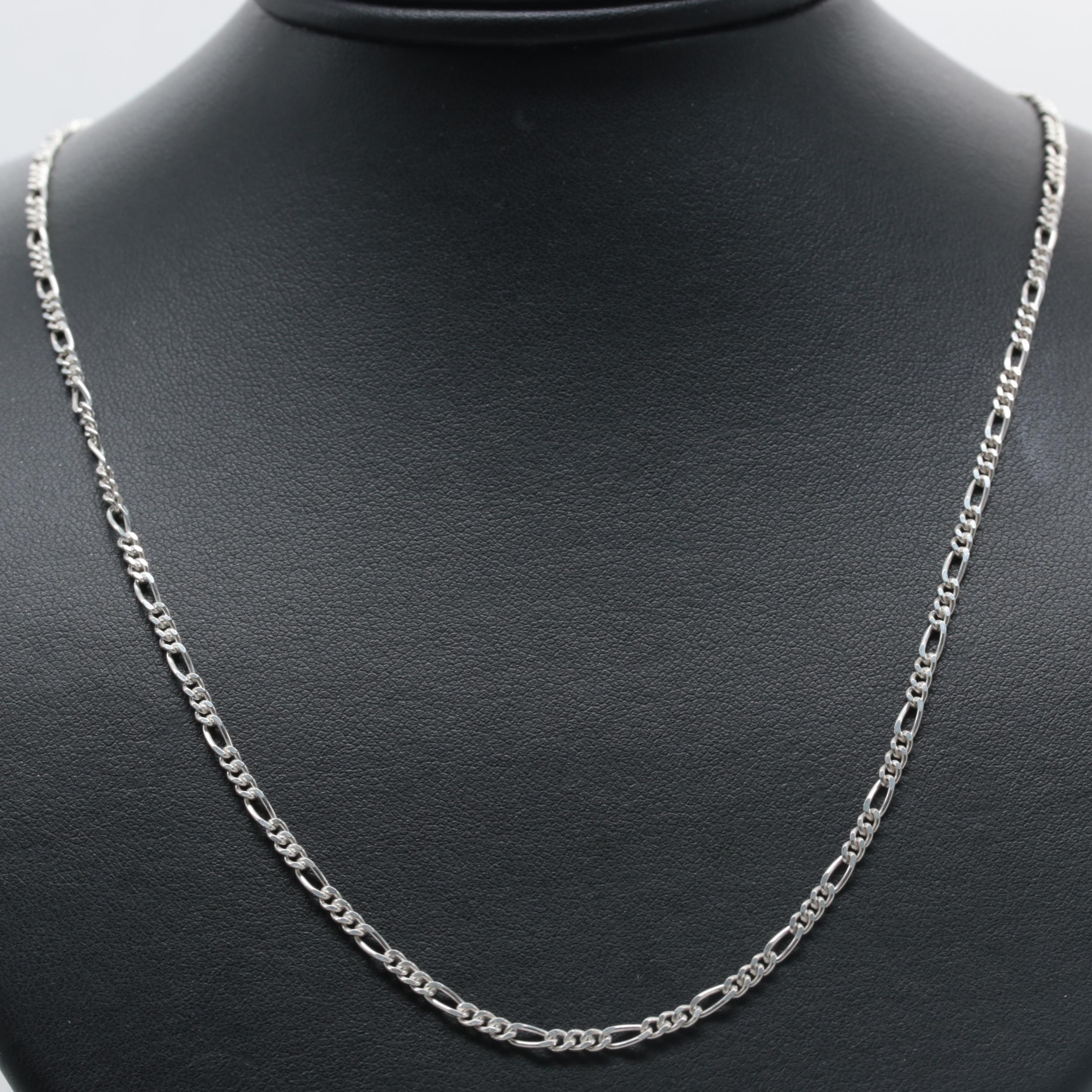 Sterling Silver Figaro Chain Necklace