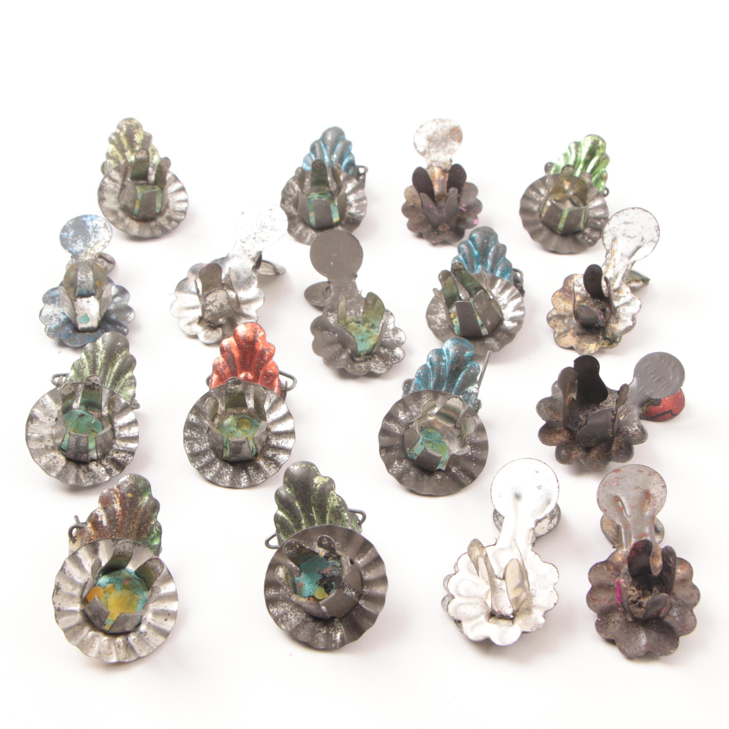 Collection of Vintage Christmas Tree Candle Clips